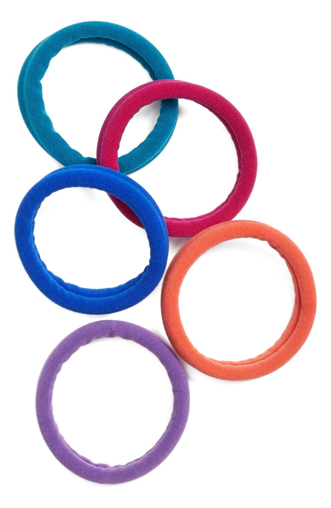 Set of 5 Sport Ponytail Holders,                             Main thumbnail 13, color,