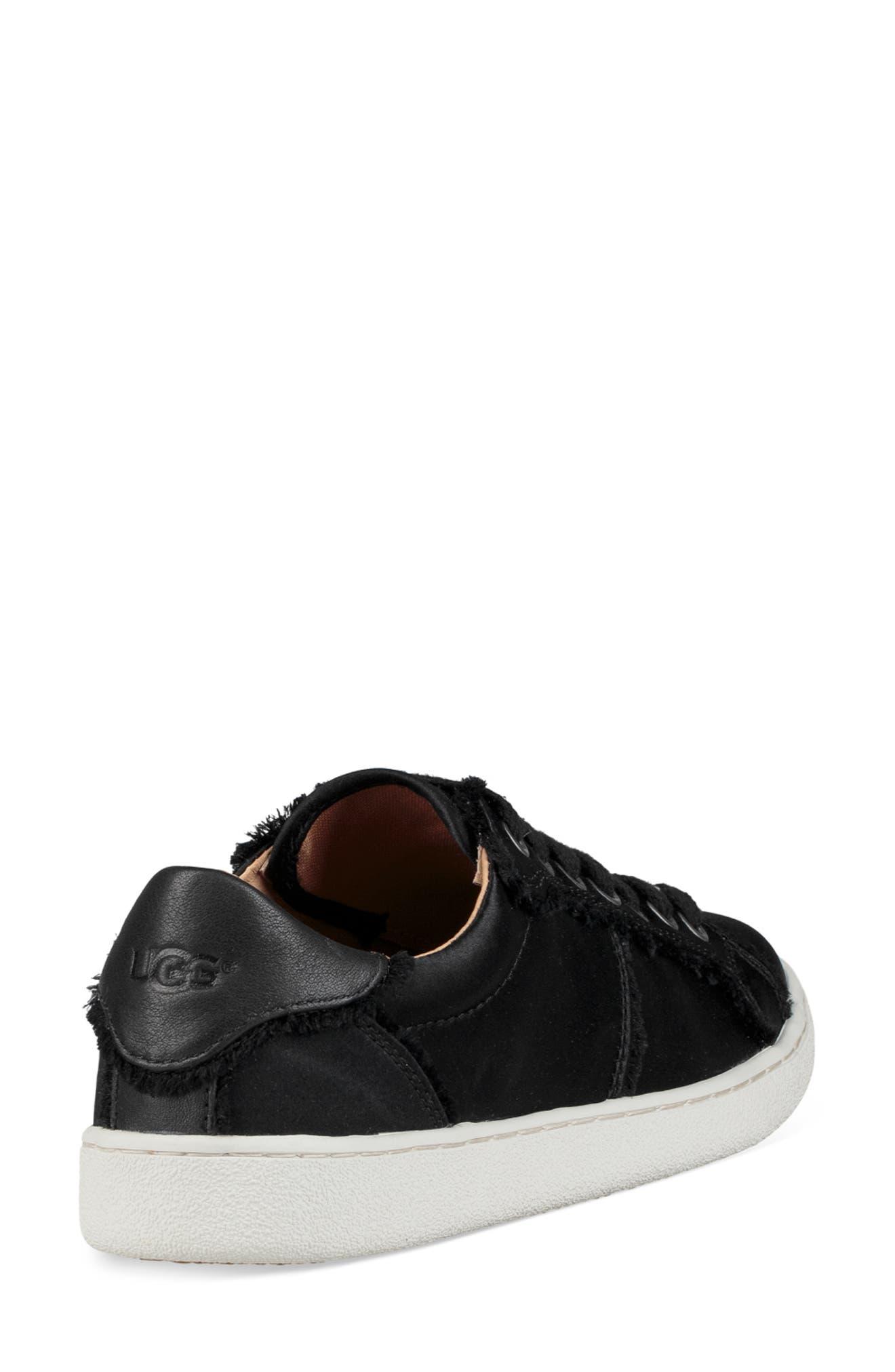Milo Spill Seam Sneaker,                             Alternate thumbnail 2, color,                             BLACK FABRIC