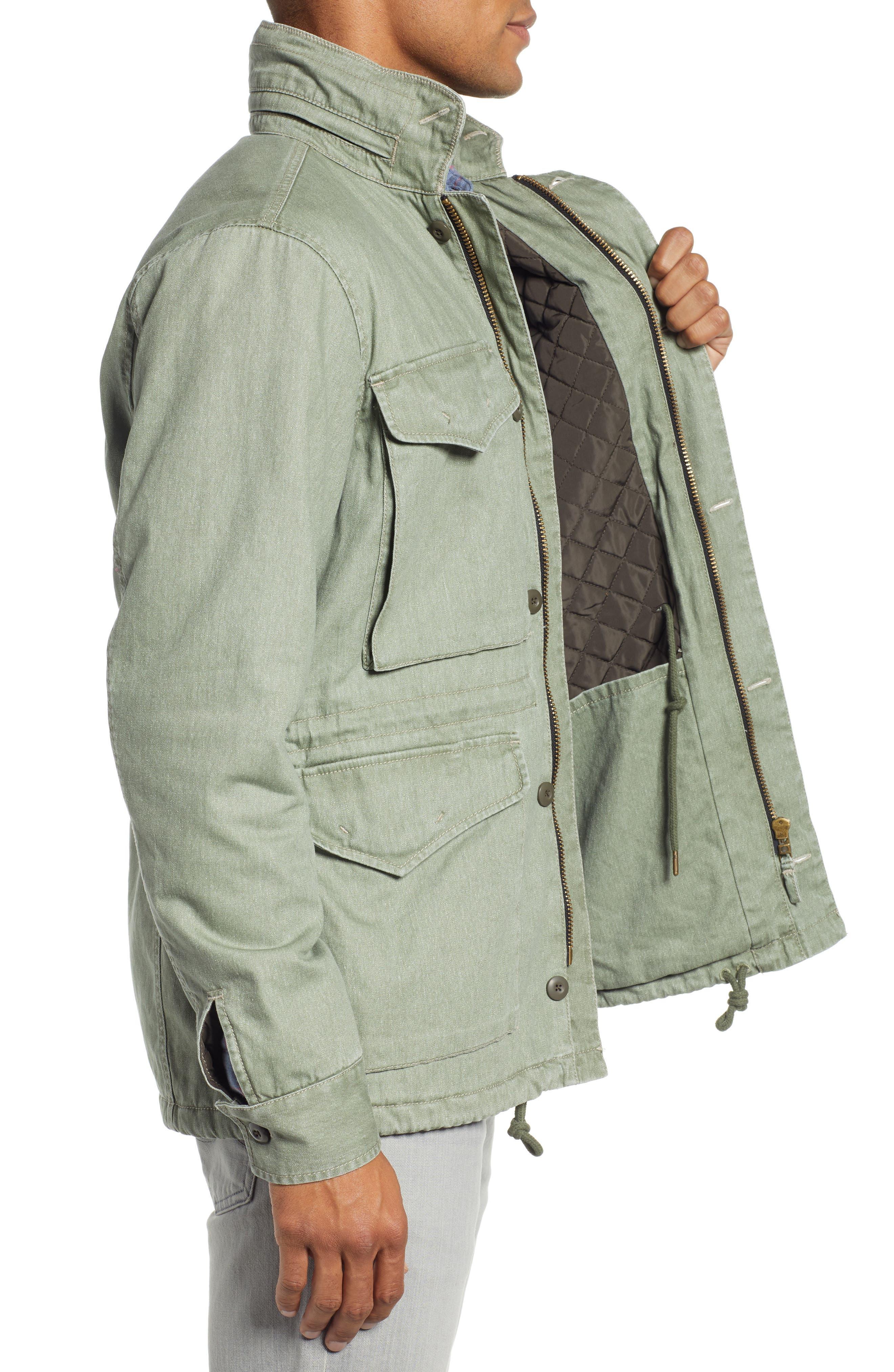 Vintage M-65 Jacket,                             Alternate thumbnail 3, color,                             OLIVE