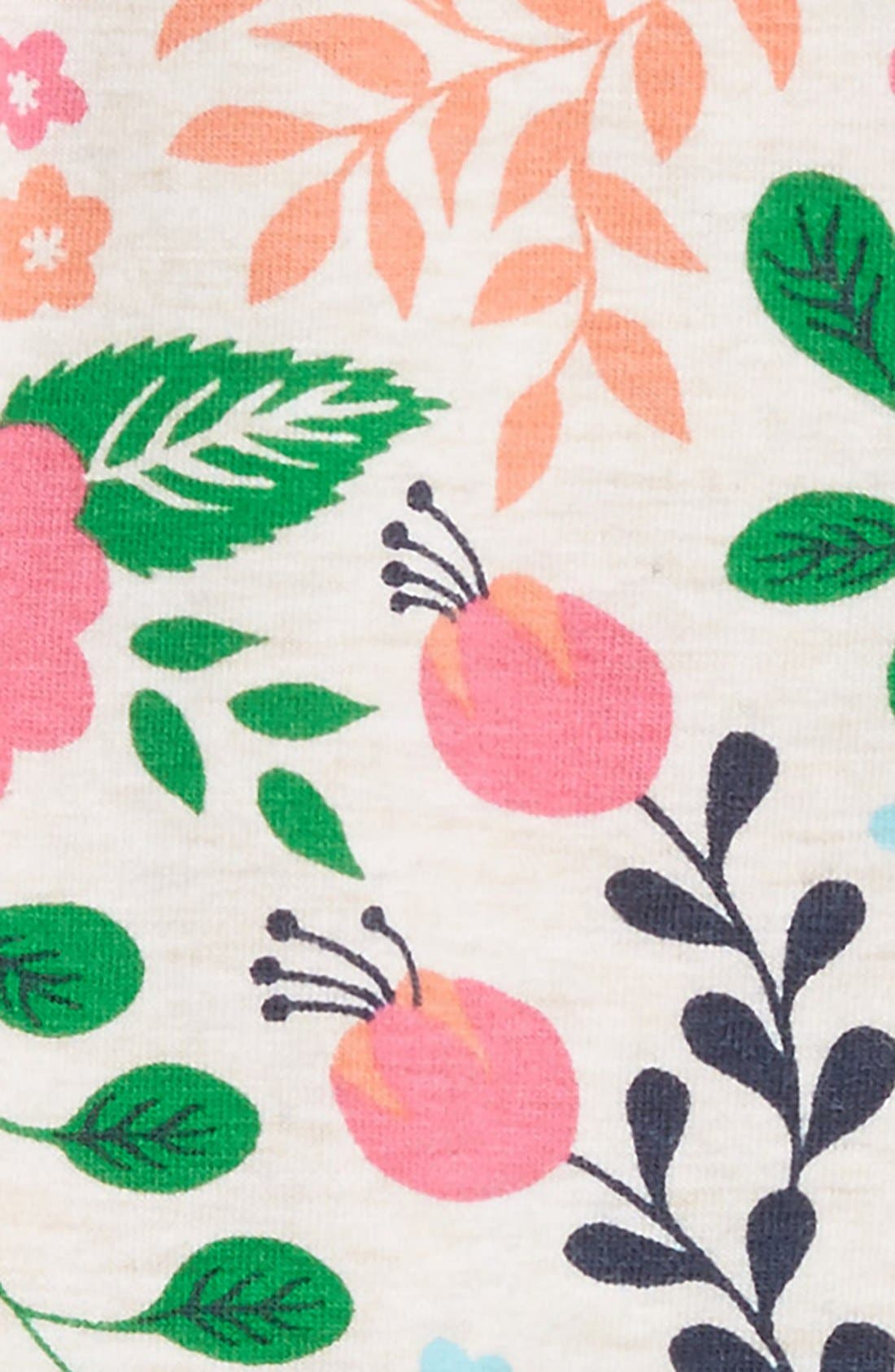 Floral Print Leggings,                             Alternate thumbnail 9, color,