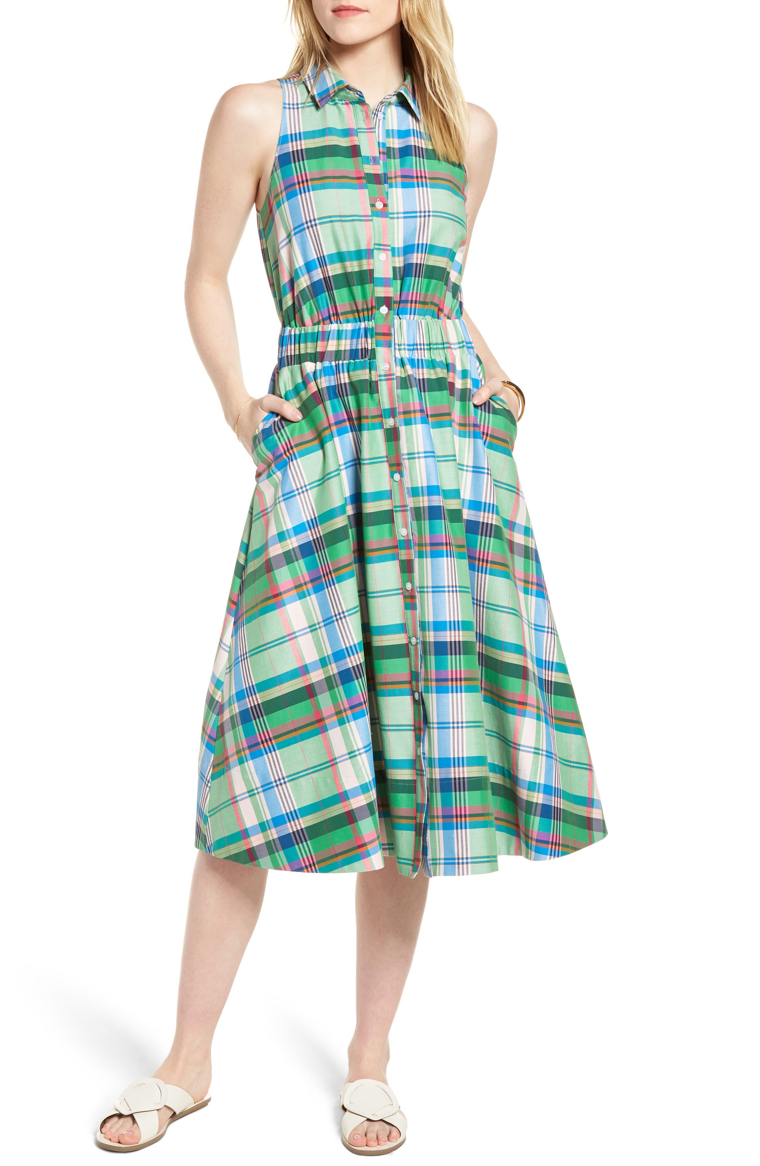 Sleeveless Shirtdress,                         Main,                         color,