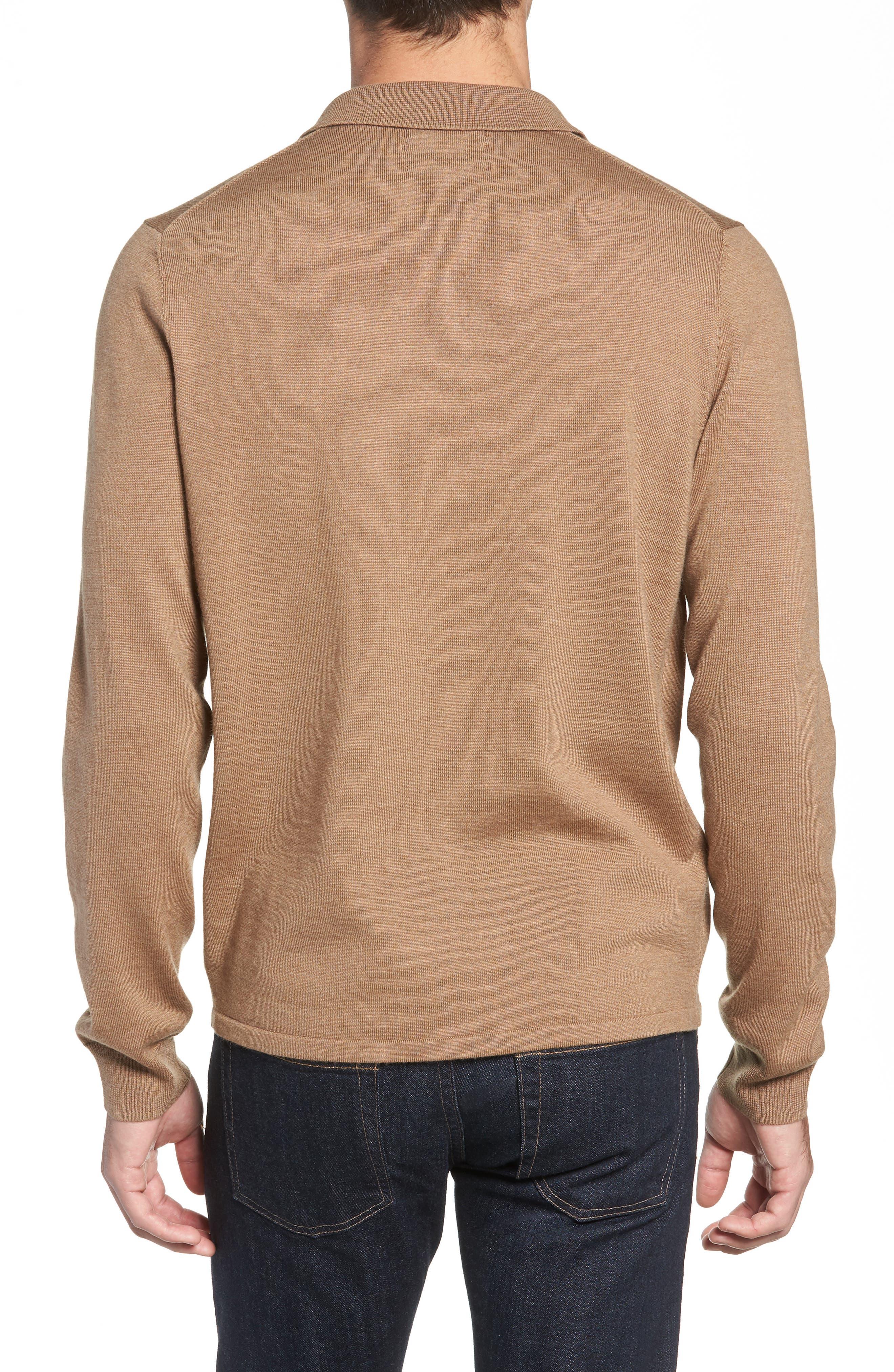 NORDSTROM MEN'S SHOP,                             Merino Wool Polo Sweater,                             Alternate thumbnail 2, color,                             211