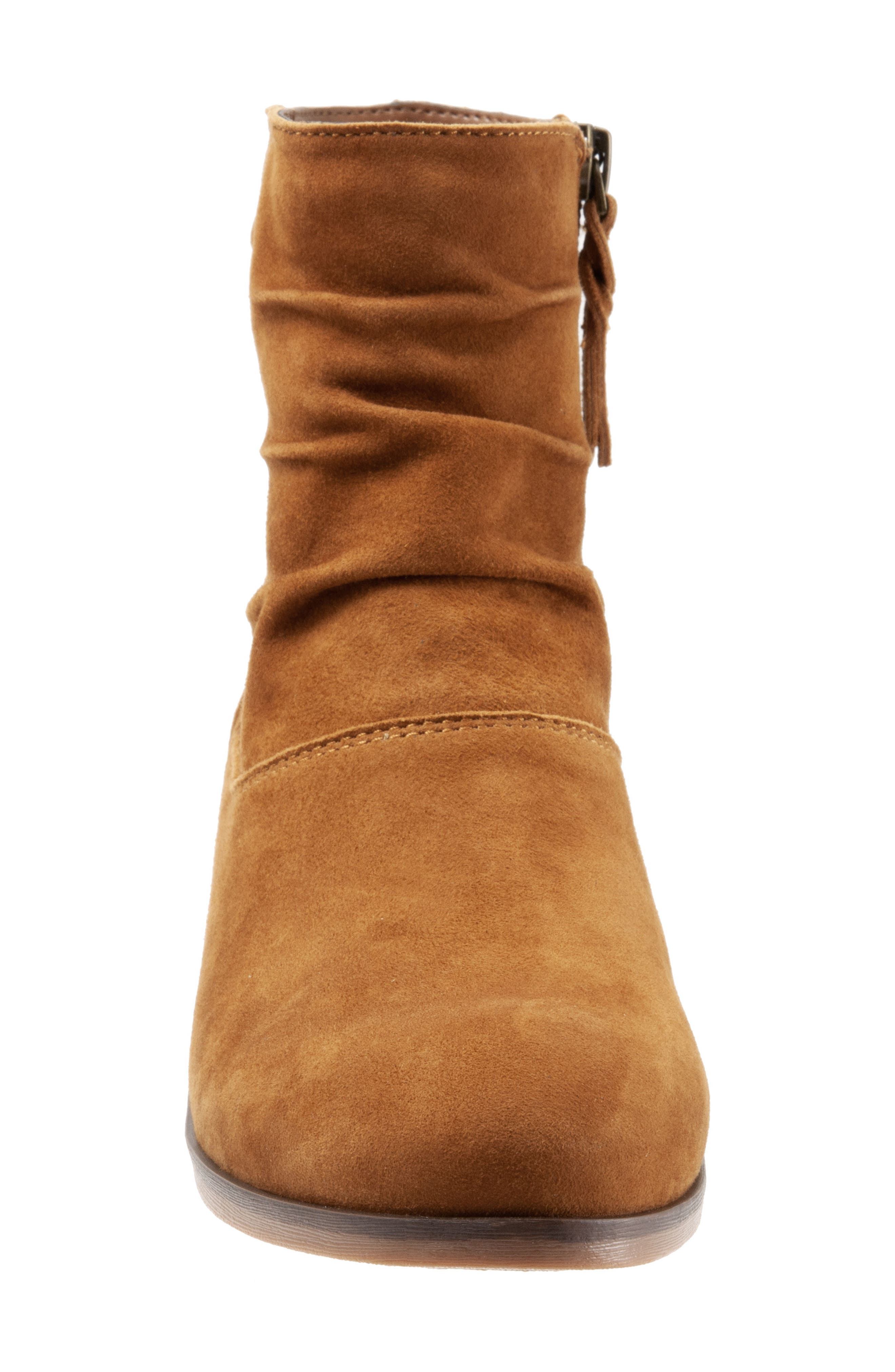 SOFTWALK<SUP>®</SUP>,                             Rochele Bootie,                             Alternate thumbnail 4, color,                             BRANDY SUEDE