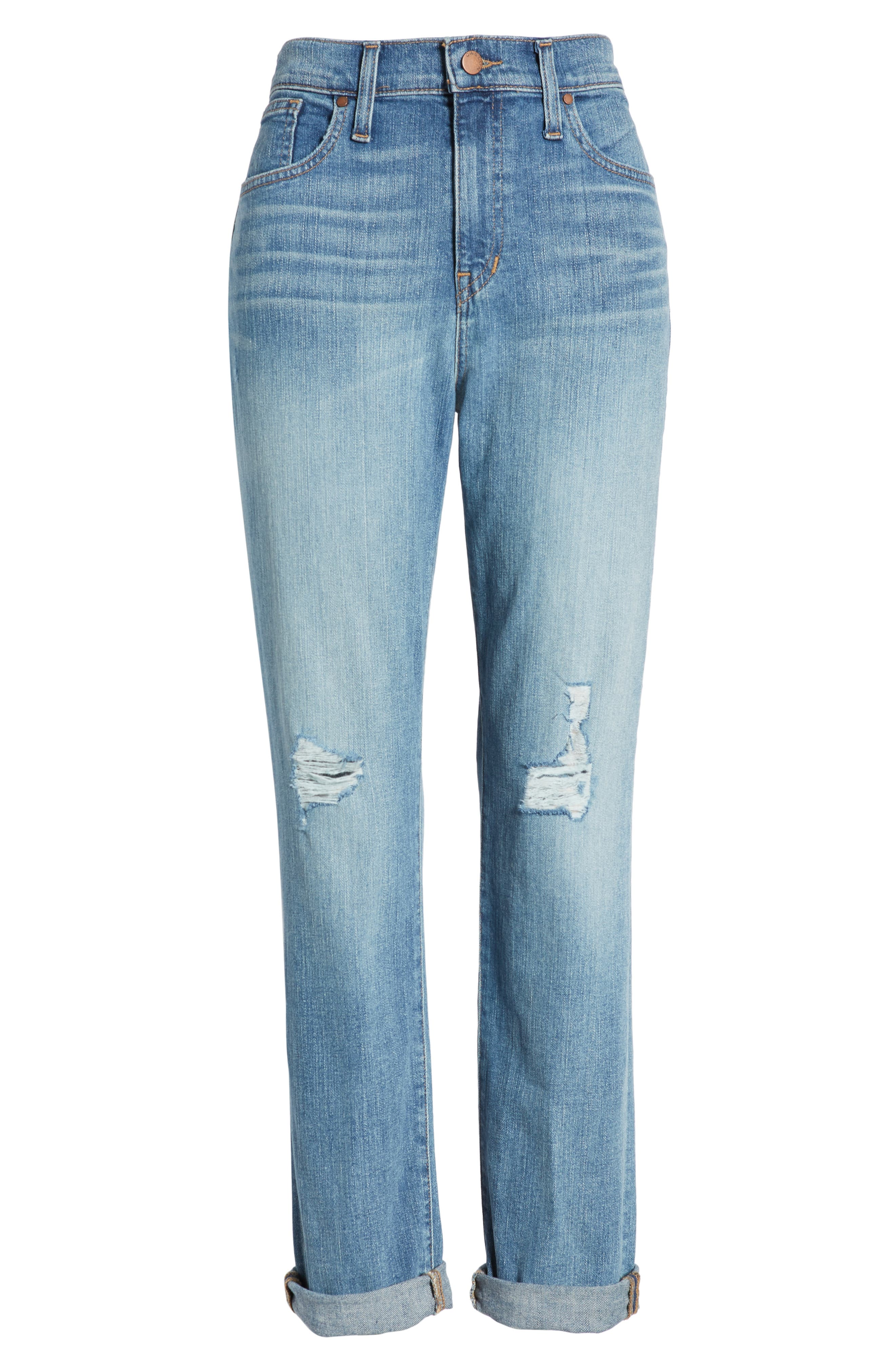 CASLON<SUP>®</SUP>,                             Arden Ripped High Waist Boyfriend Jeans,                             Alternate thumbnail 7, color,                             420