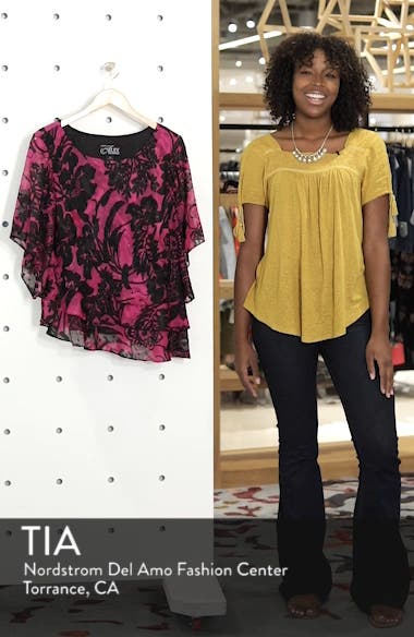 Print Tiered Blouse, sales video thumbnail
