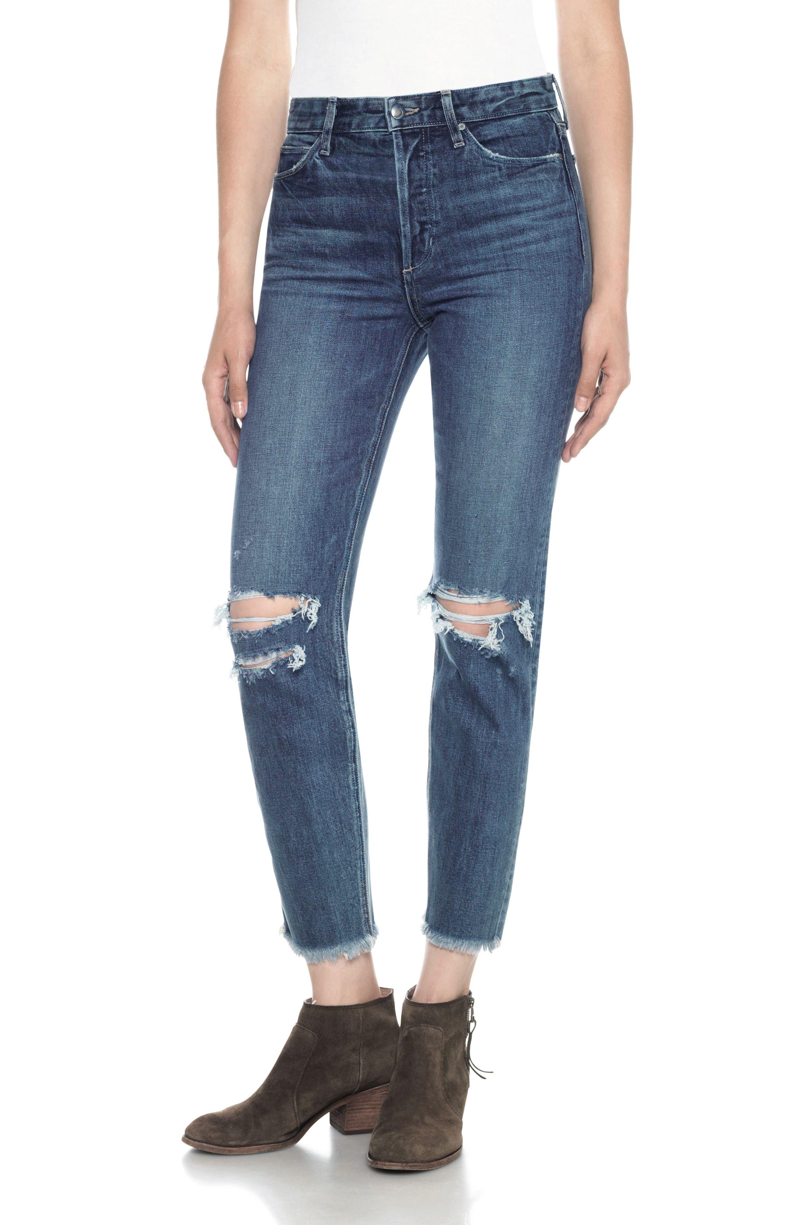 Classics Debbie High Waist Ankle Straight Leg Jeans,                             Main thumbnail 1, color,                             410