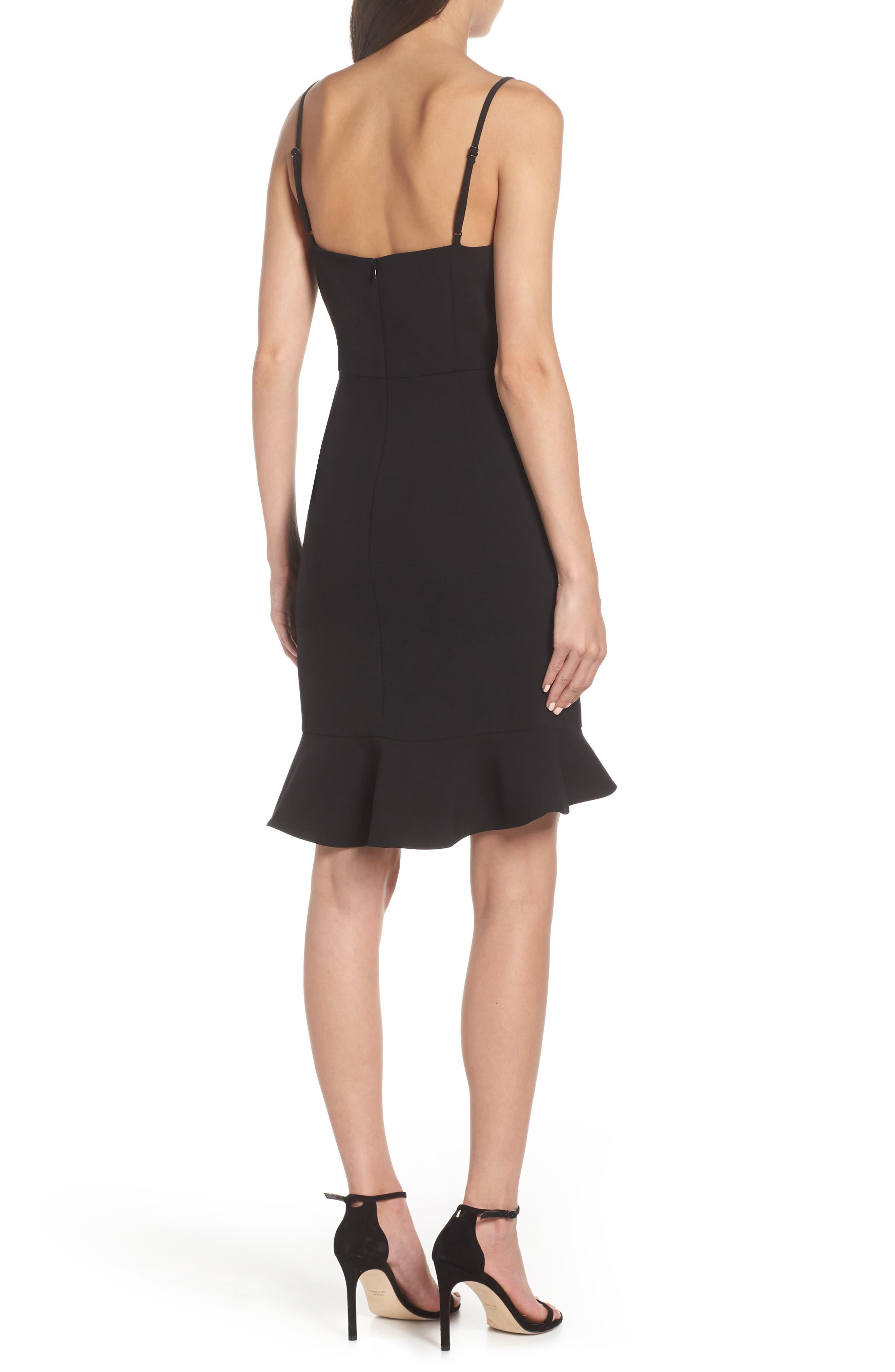 Whisper Sweetheart Dress,                             Alternate thumbnail 2, color,                             BLACK