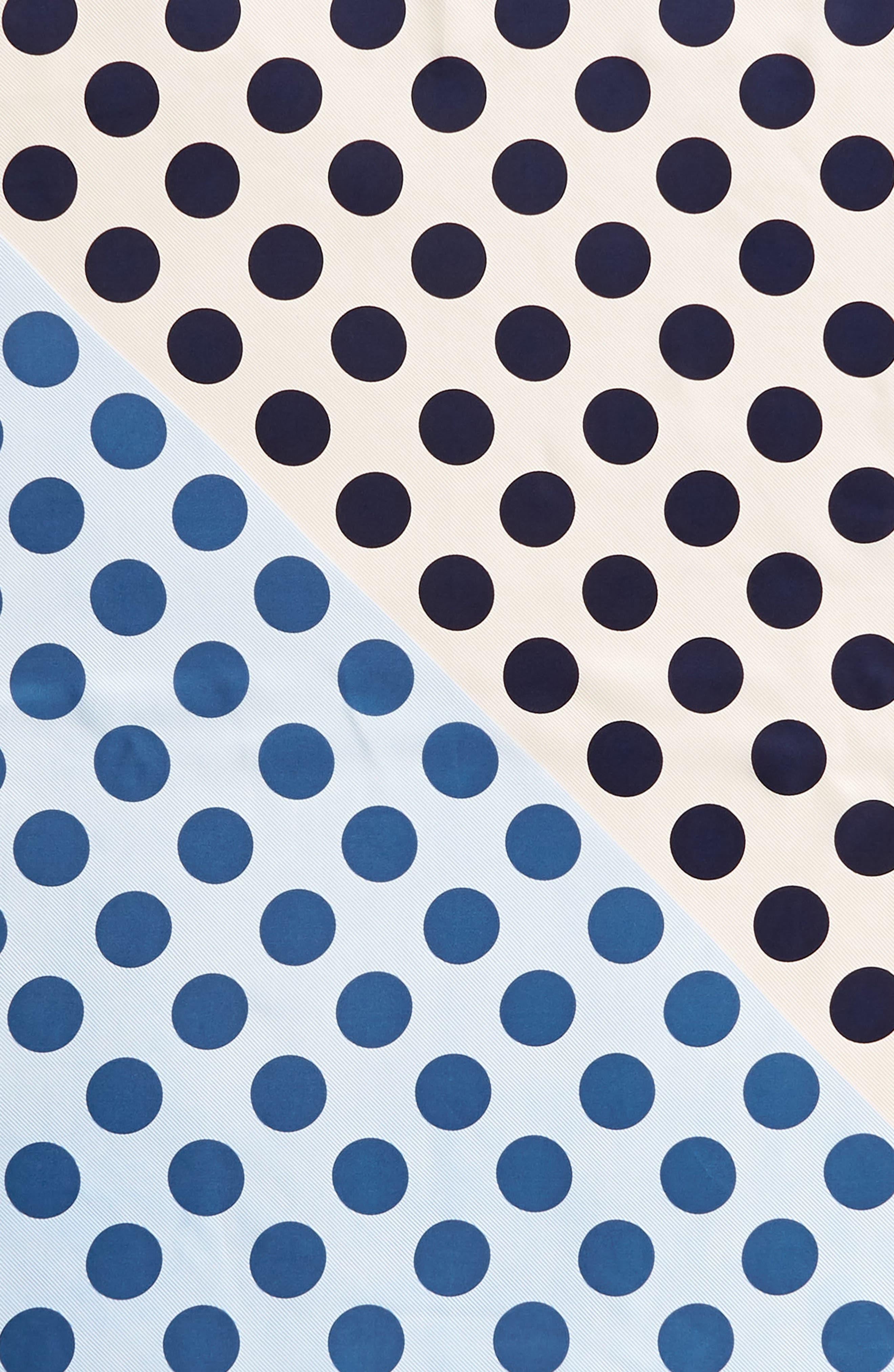 Polka Stripe Square Silk Scarf,                             Alternate thumbnail 11, color,