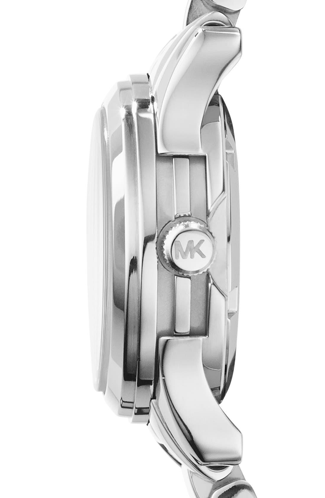 Michael Kors 'Petite Runway' Logo Dial Bracelet Watch, 26mm,                             Alternate thumbnail 3, color,                             040
