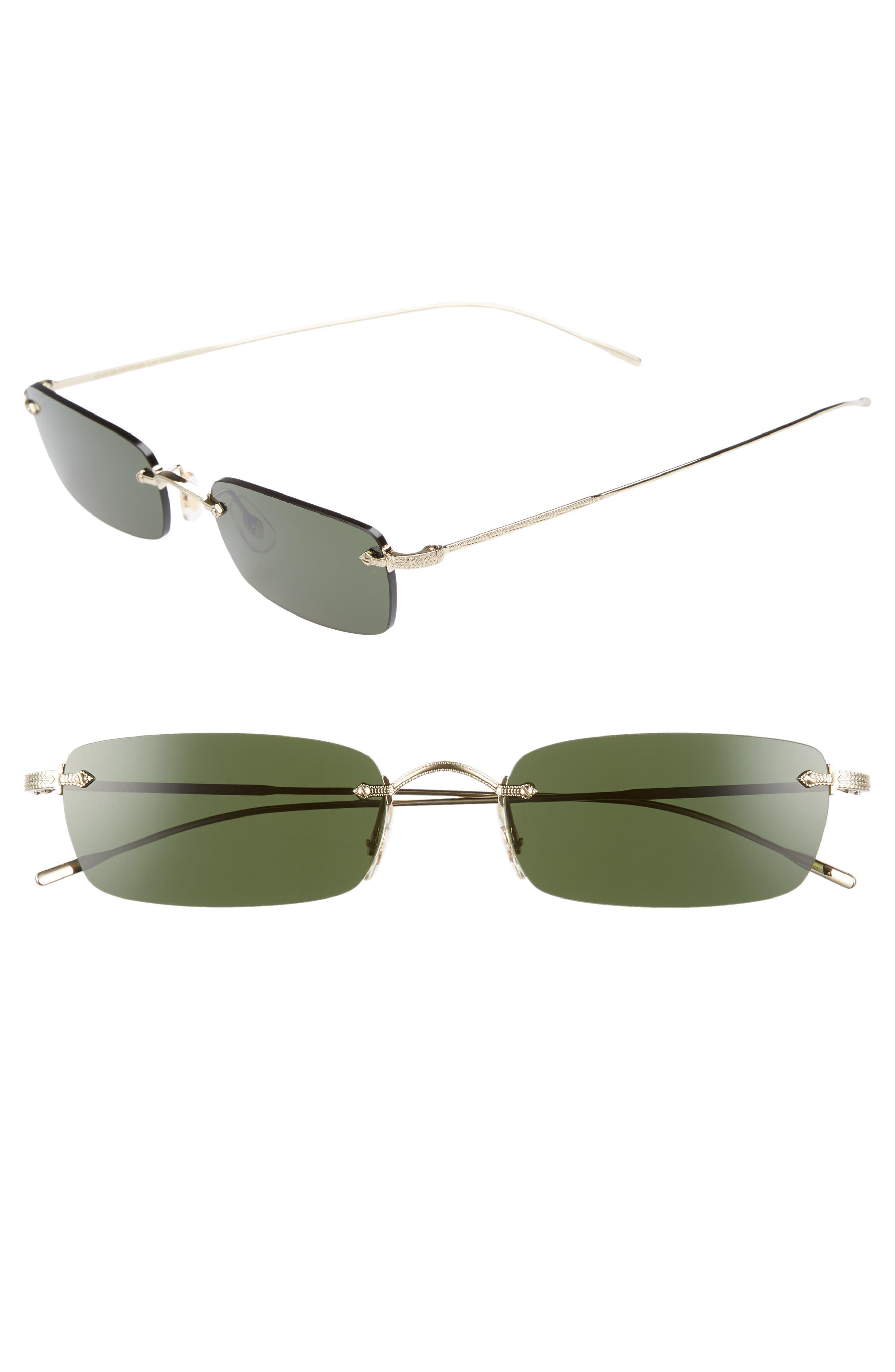 Daveigh 54mm Sunglasses,                             Main thumbnail 1, color,                             GREEN