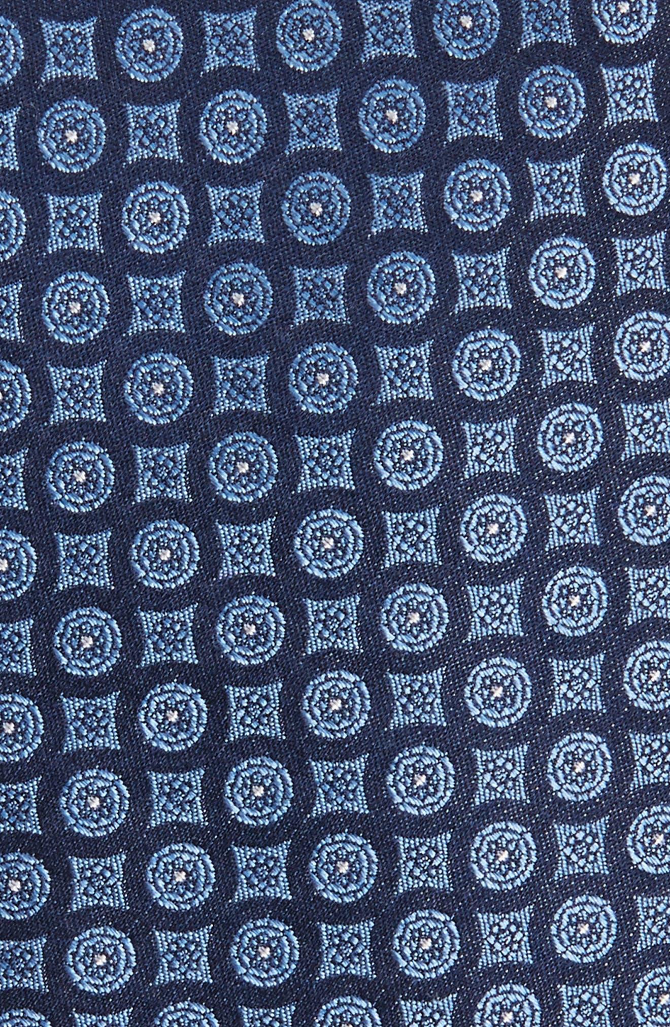 Medallion Silk Tie,                             Alternate thumbnail 2, color,                             411
