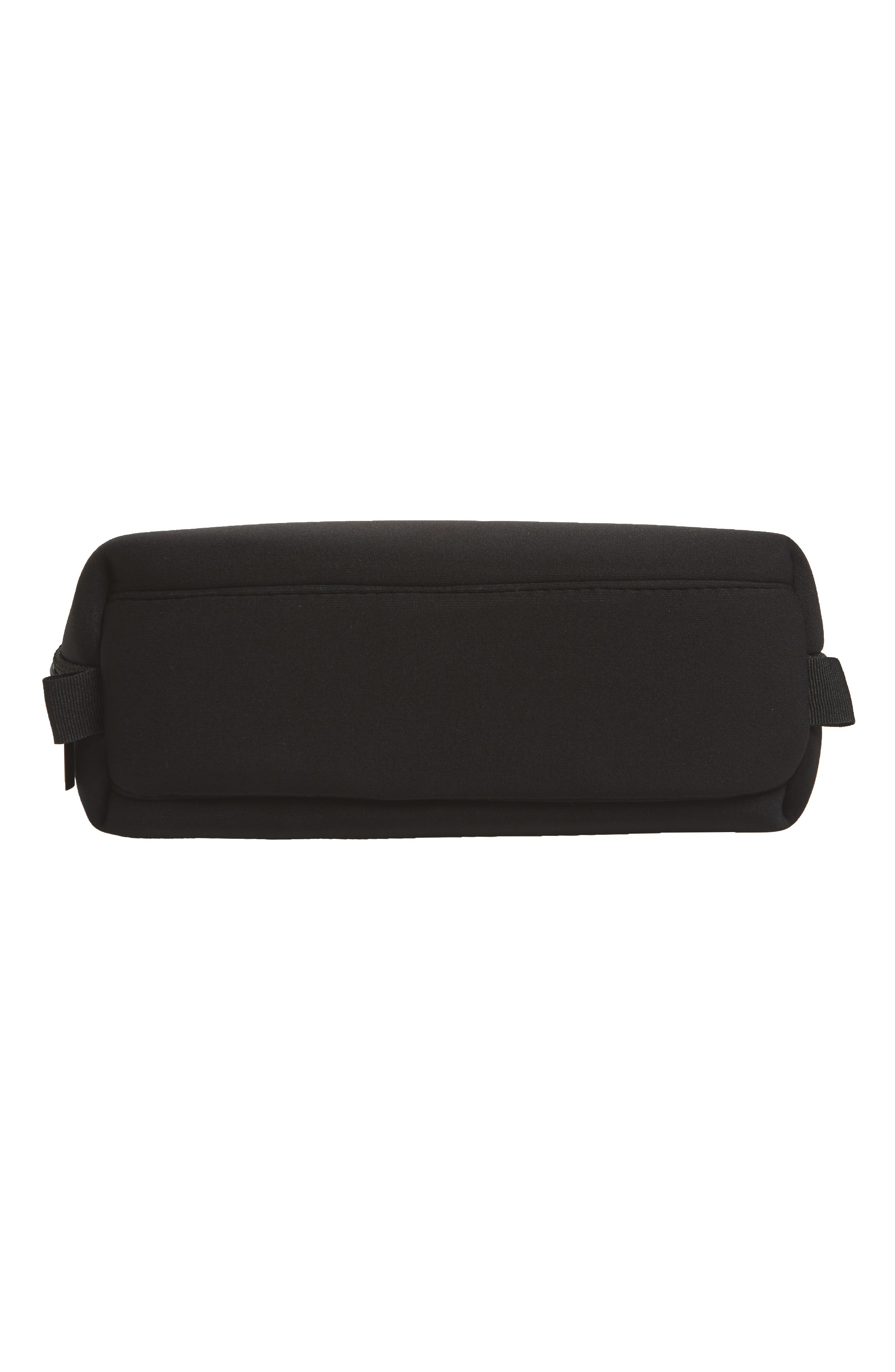 Curved Cosmetic Bag,                             Alternate thumbnail 5, color,                             BLACK