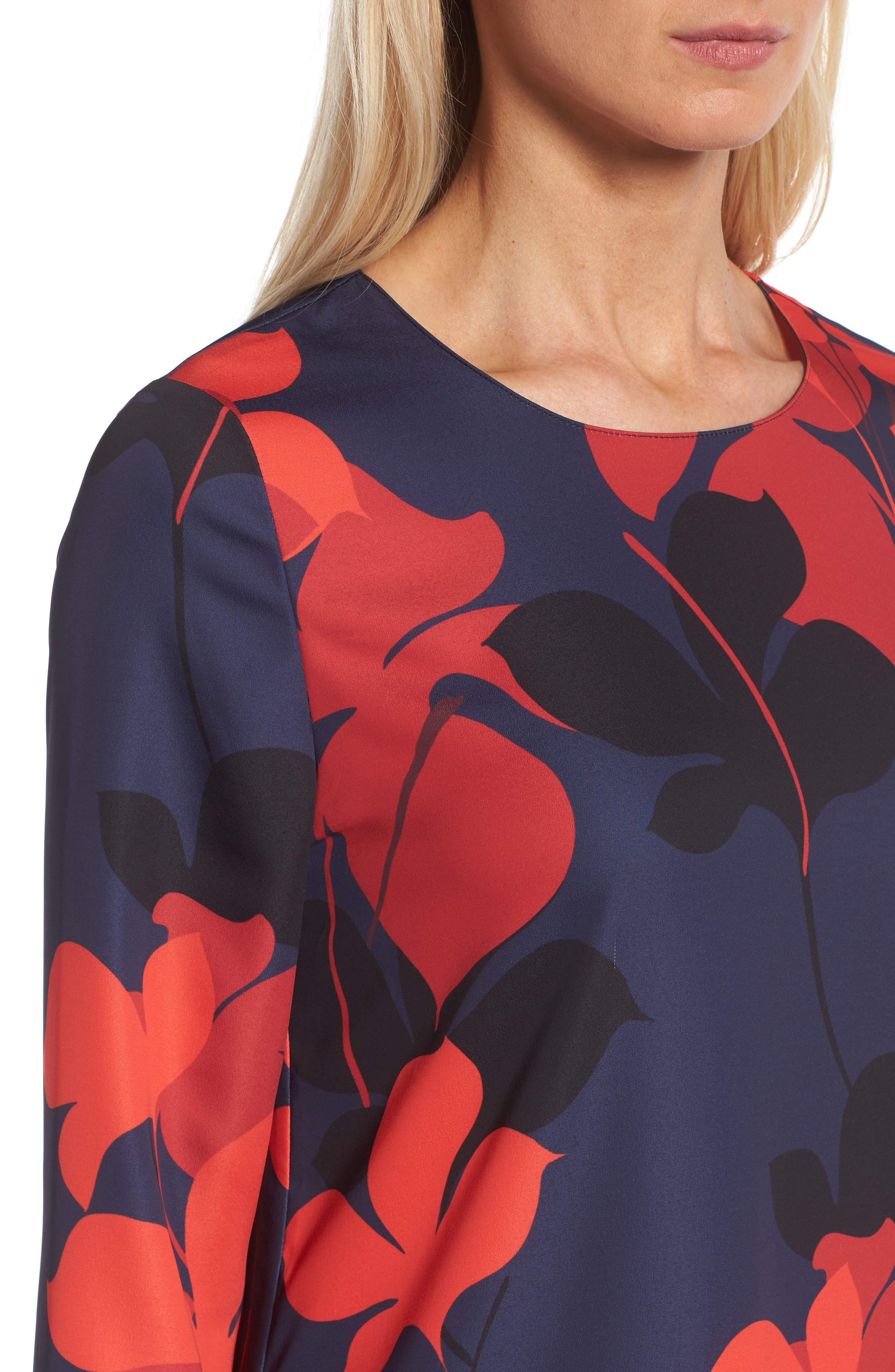 Button Back Ruffle Hem Dress,                             Alternate thumbnail 41, color,