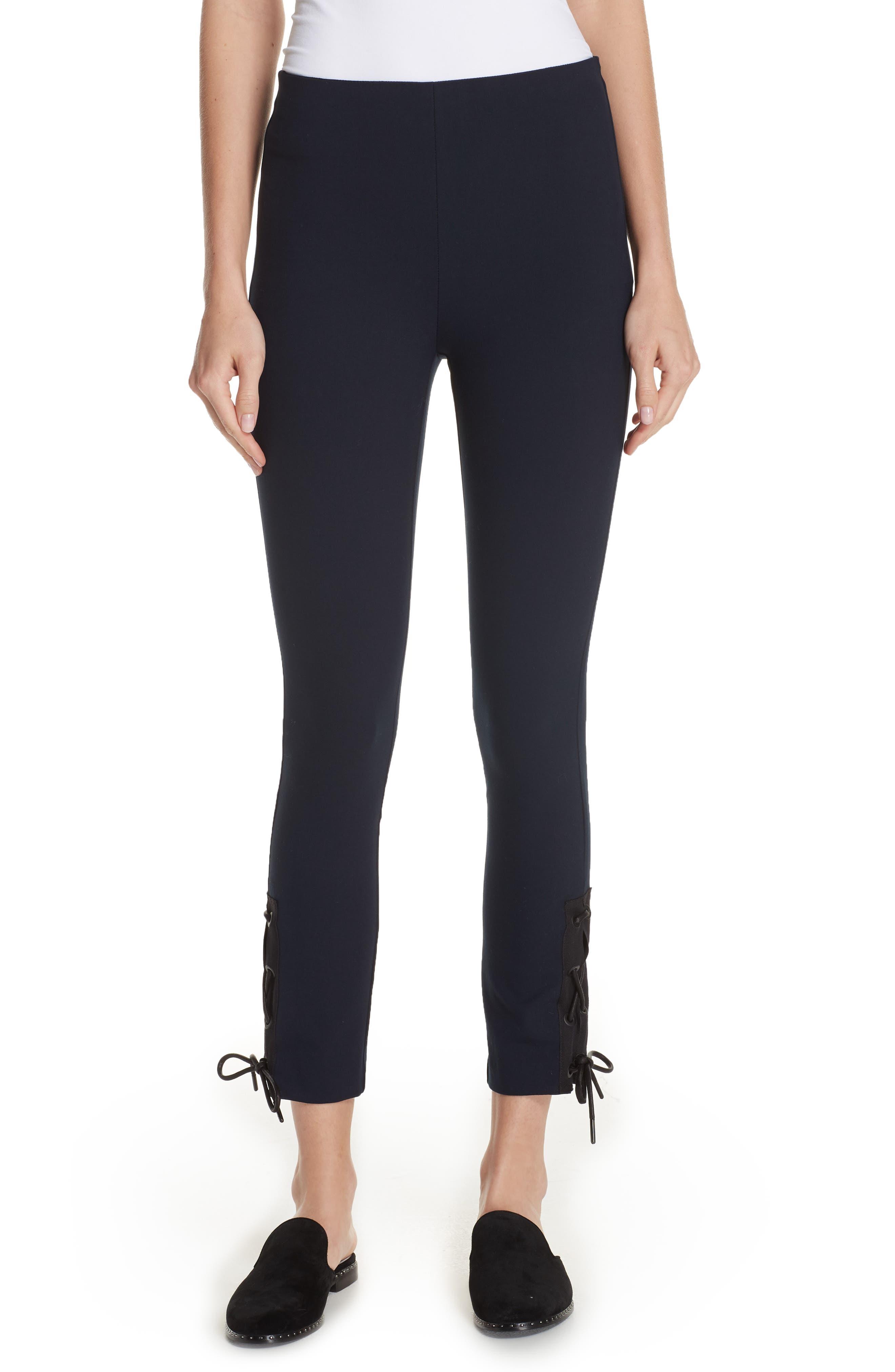 Simone Lace-Up Pants, Main, color, 410