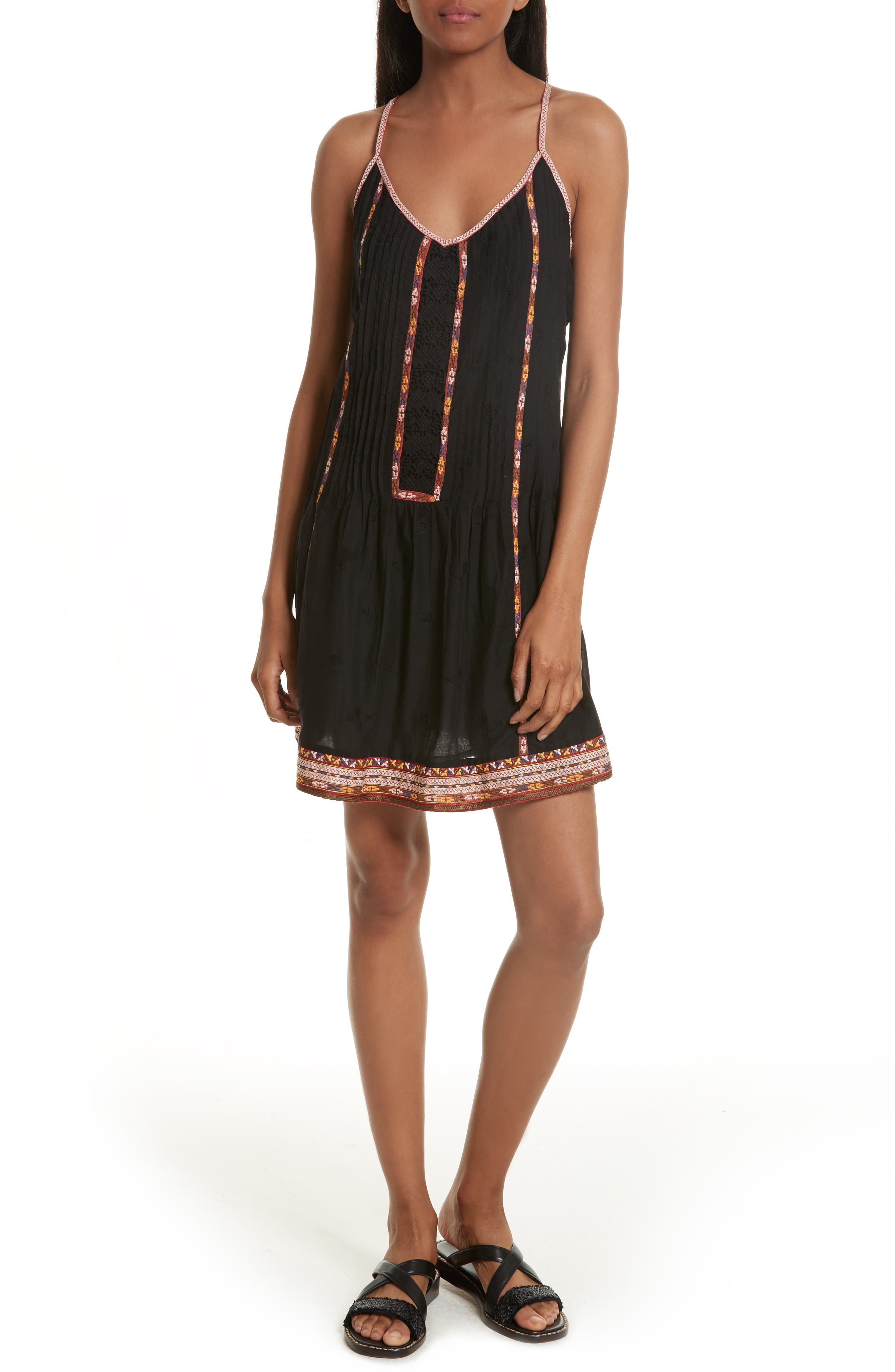 Horlane Embroidered Slipdress,                         Main,                         color, 002