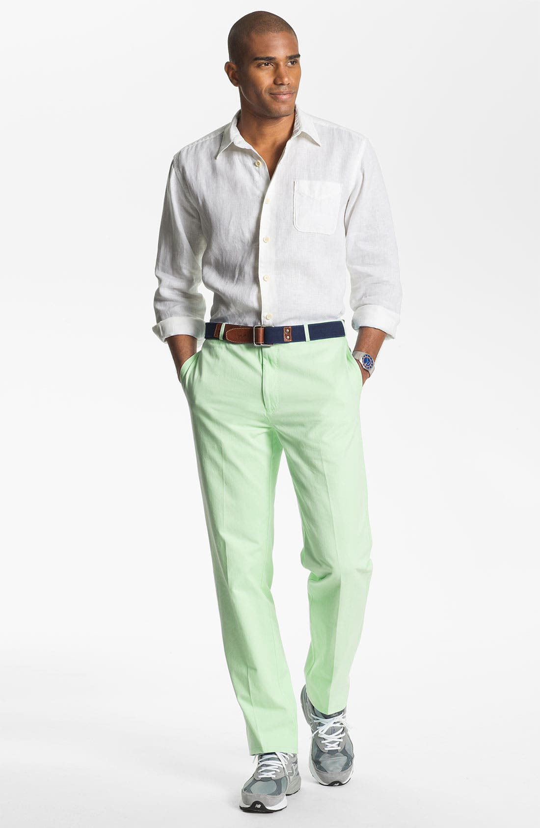 Garment Washed Twill Pants,                             Alternate thumbnail 47, color,