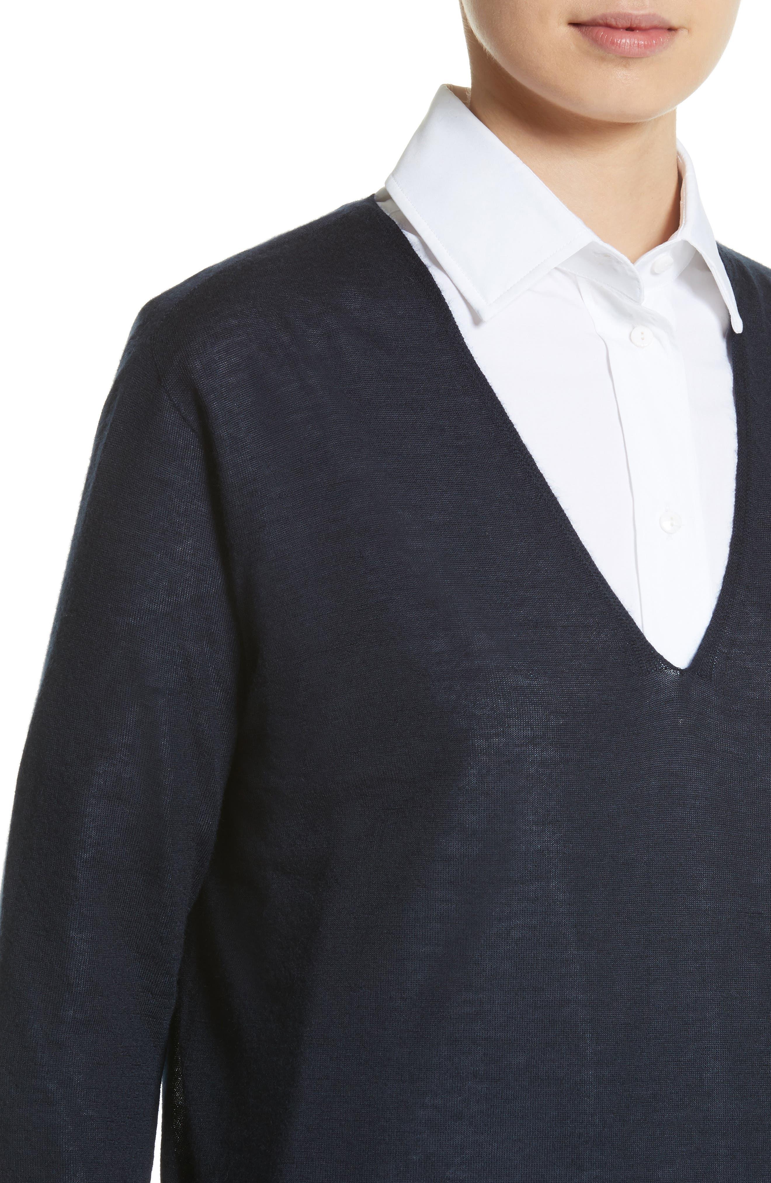 Vela Cashmere Sweater,                             Alternate thumbnail 4, color,                             411