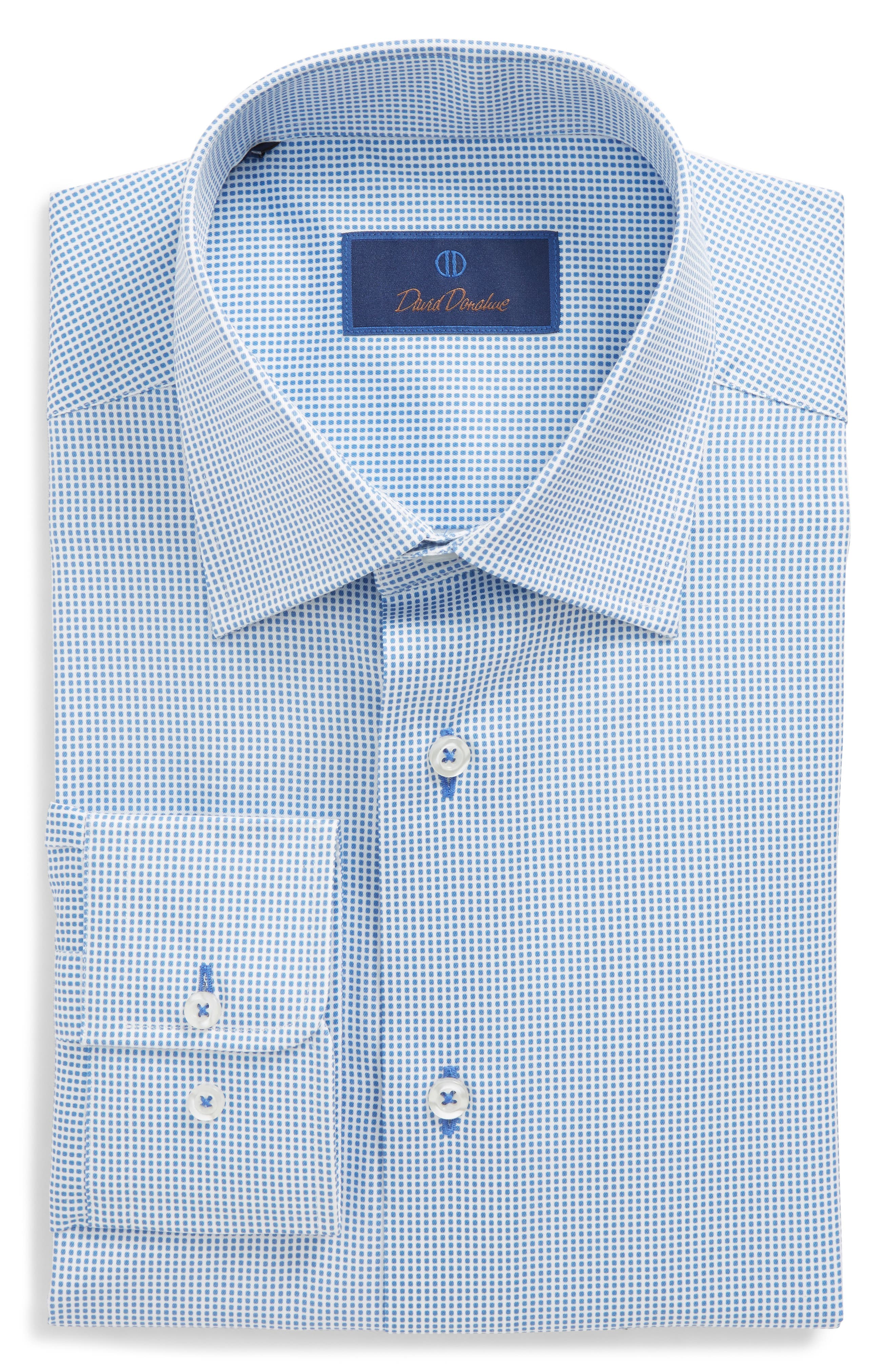 Regular Fit Dot Dress Shirt,                             Main thumbnail 1, color,