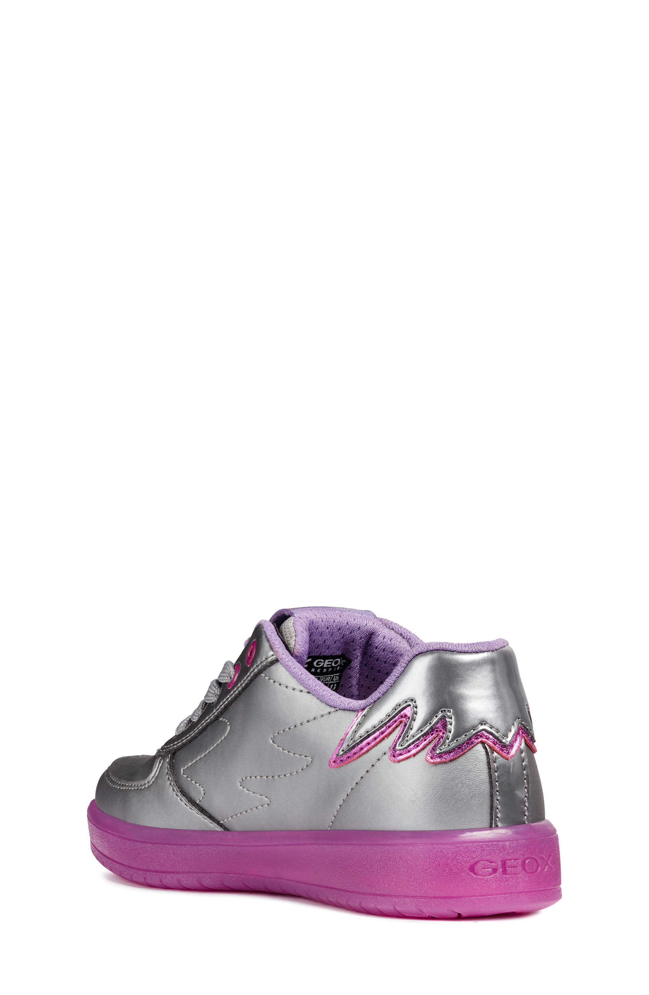 Kommodor Glitter Light Up Sneaker,                             Alternate thumbnail 2, color,                             DARK SILVER/LILAC