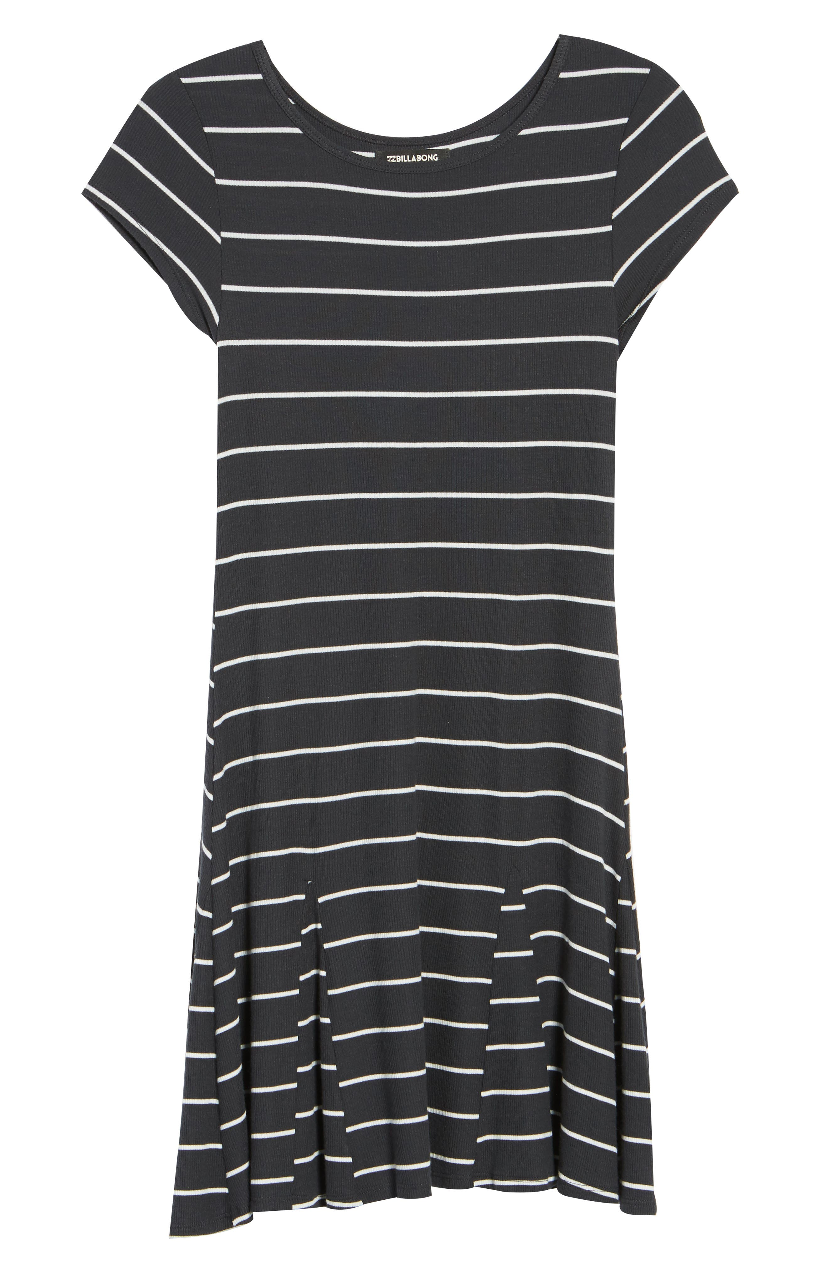 Rockin Down Stripe T-Shirt Dress,                             Alternate thumbnail 6, color,                             015