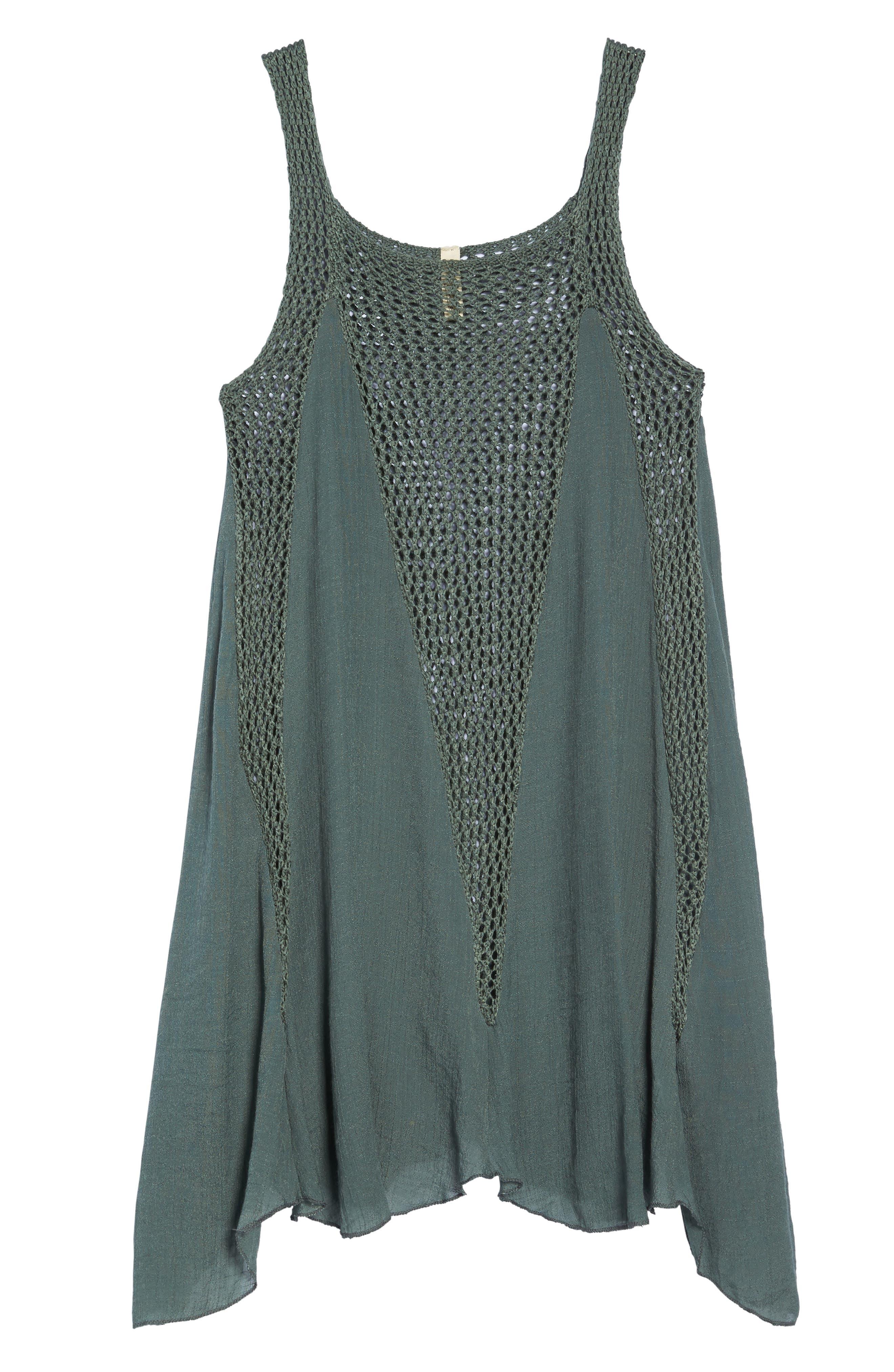 Crochet Inset Cover-Up Dress,                             Alternate thumbnail 6, color,                             302