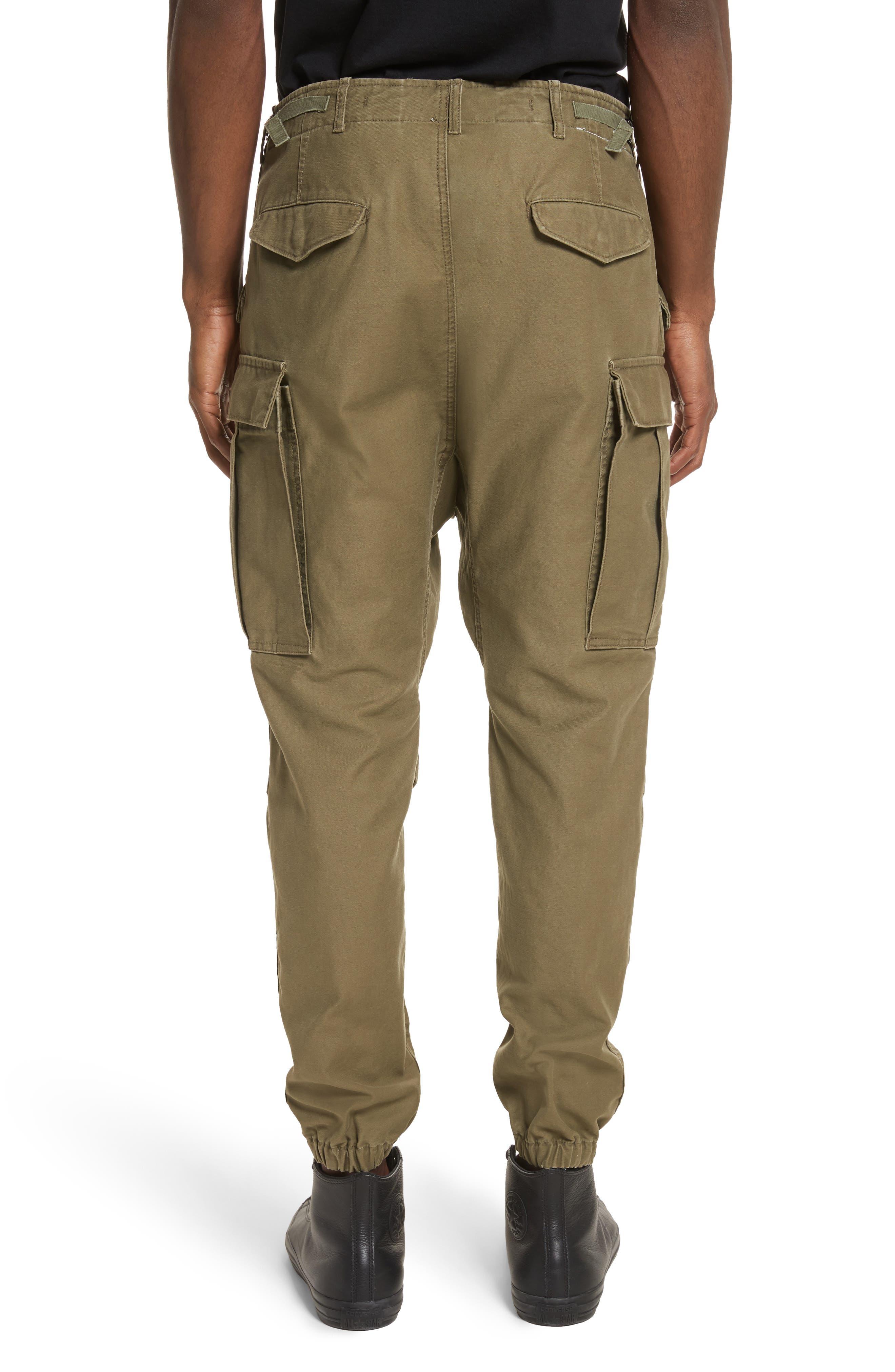 Surplus Military Cargo Pants,                             Alternate thumbnail 2, color,                             OLIVE