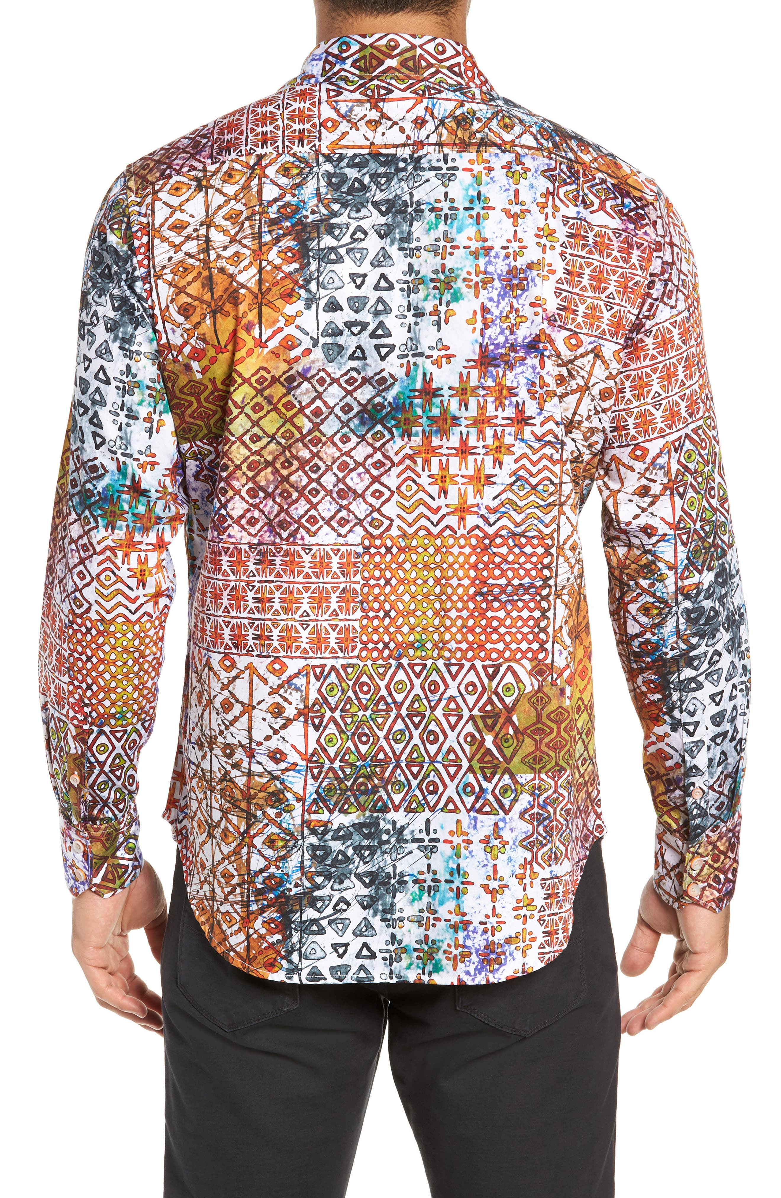 Rhone River Classic Fit Sport Shirt,                             Alternate thumbnail 3, color,                             MULTI