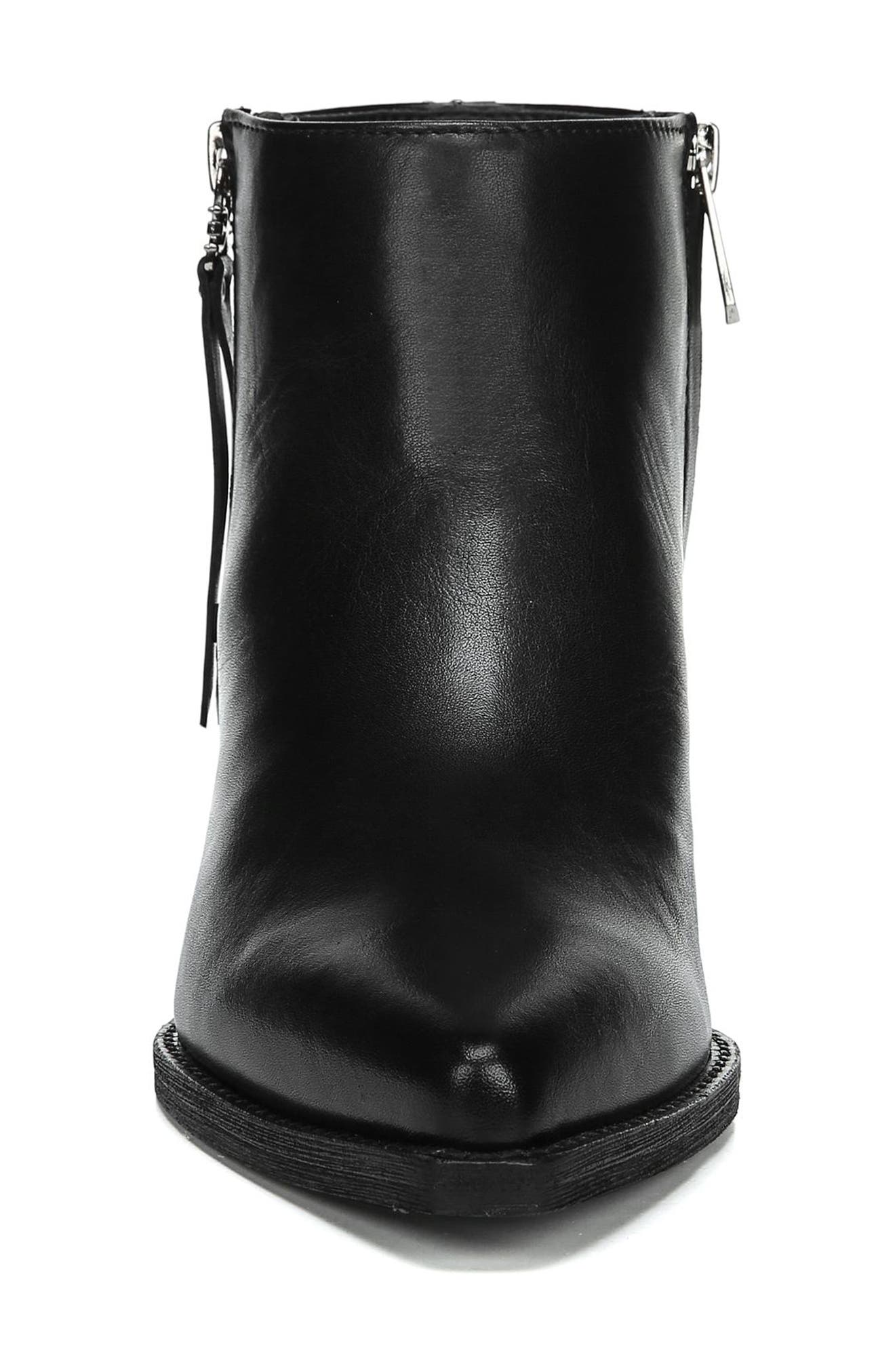 Walden Bootie,                             Alternate thumbnail 4, color,                             BLACK LEATHER