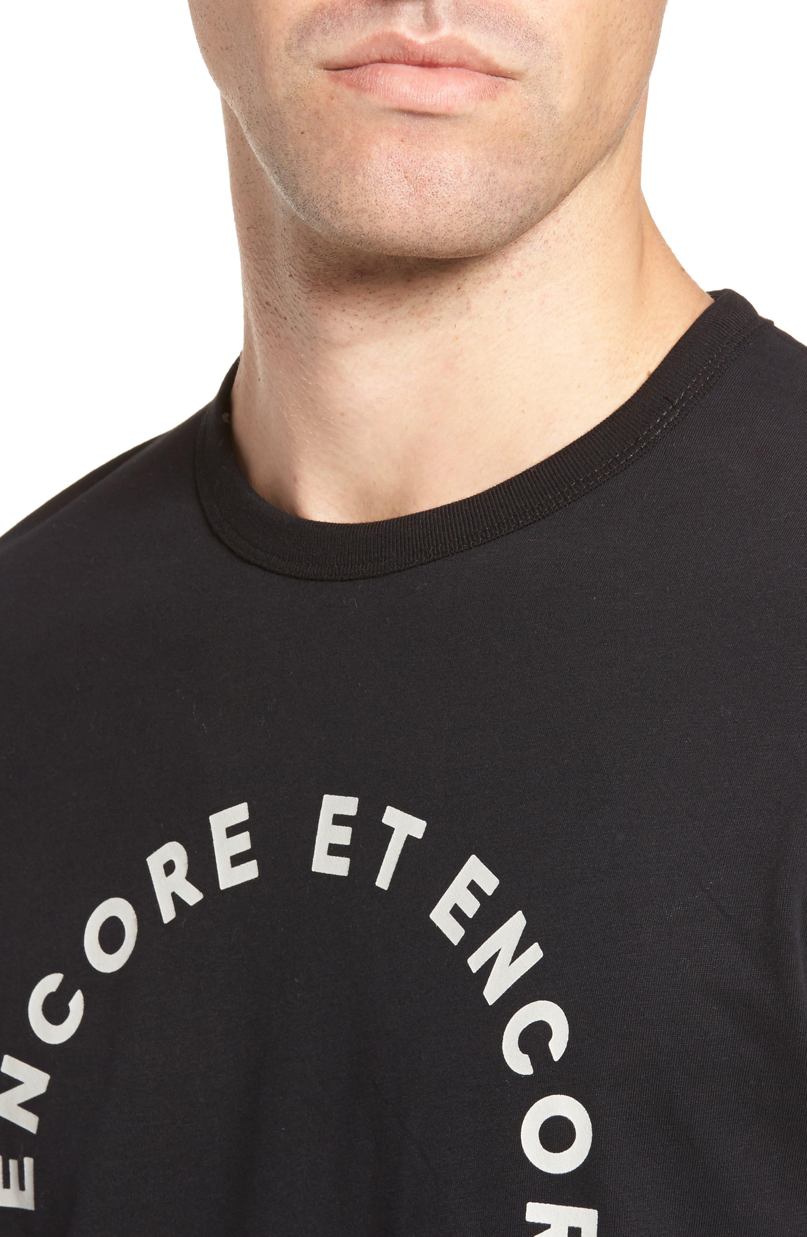 Encore Et Encore Regular Fit T-Shirt,                             Alternate thumbnail 4, color,                             001