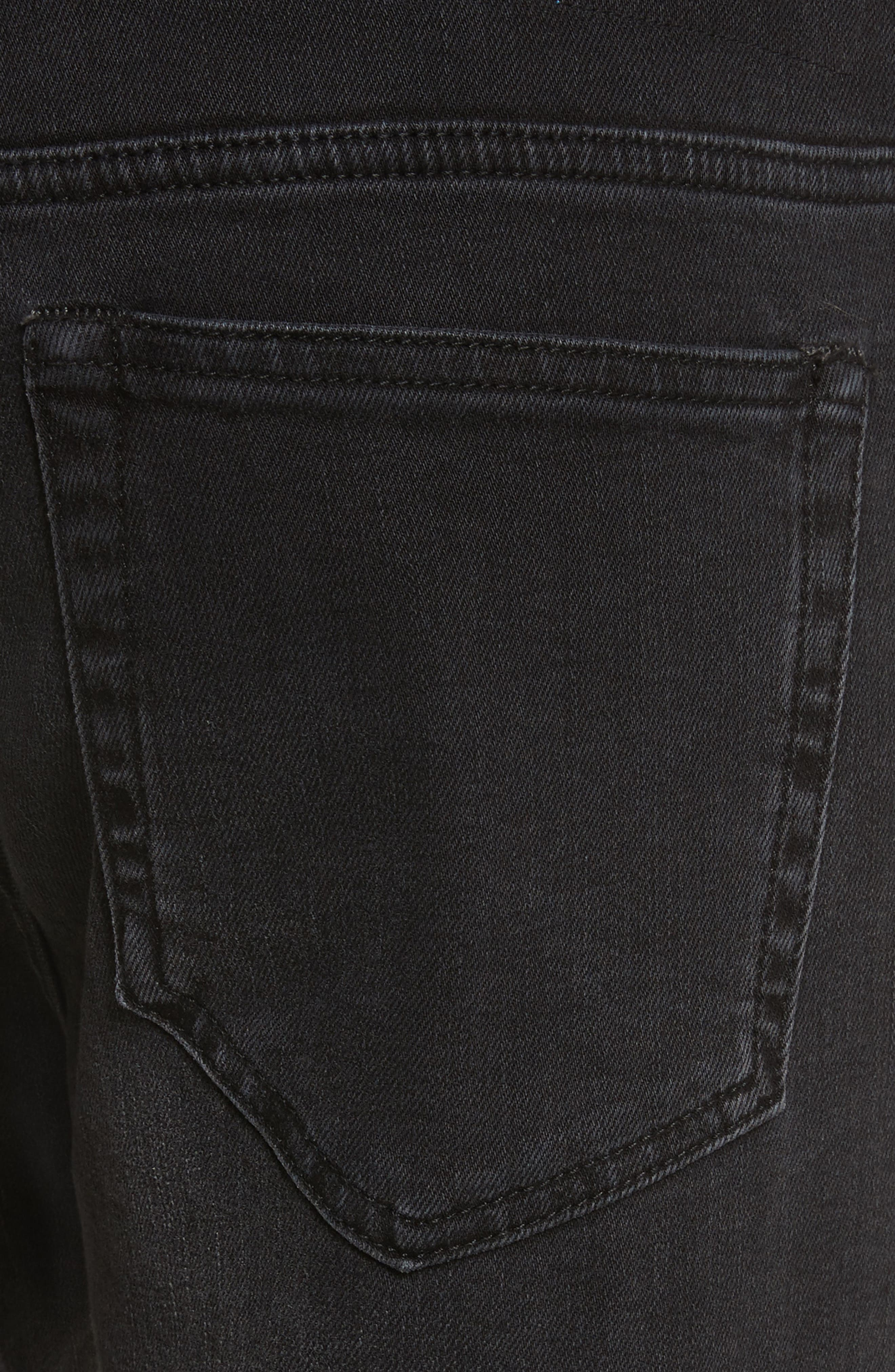 River Used Jeans,                             Alternate thumbnail 4, color,                             151 USED BLACK