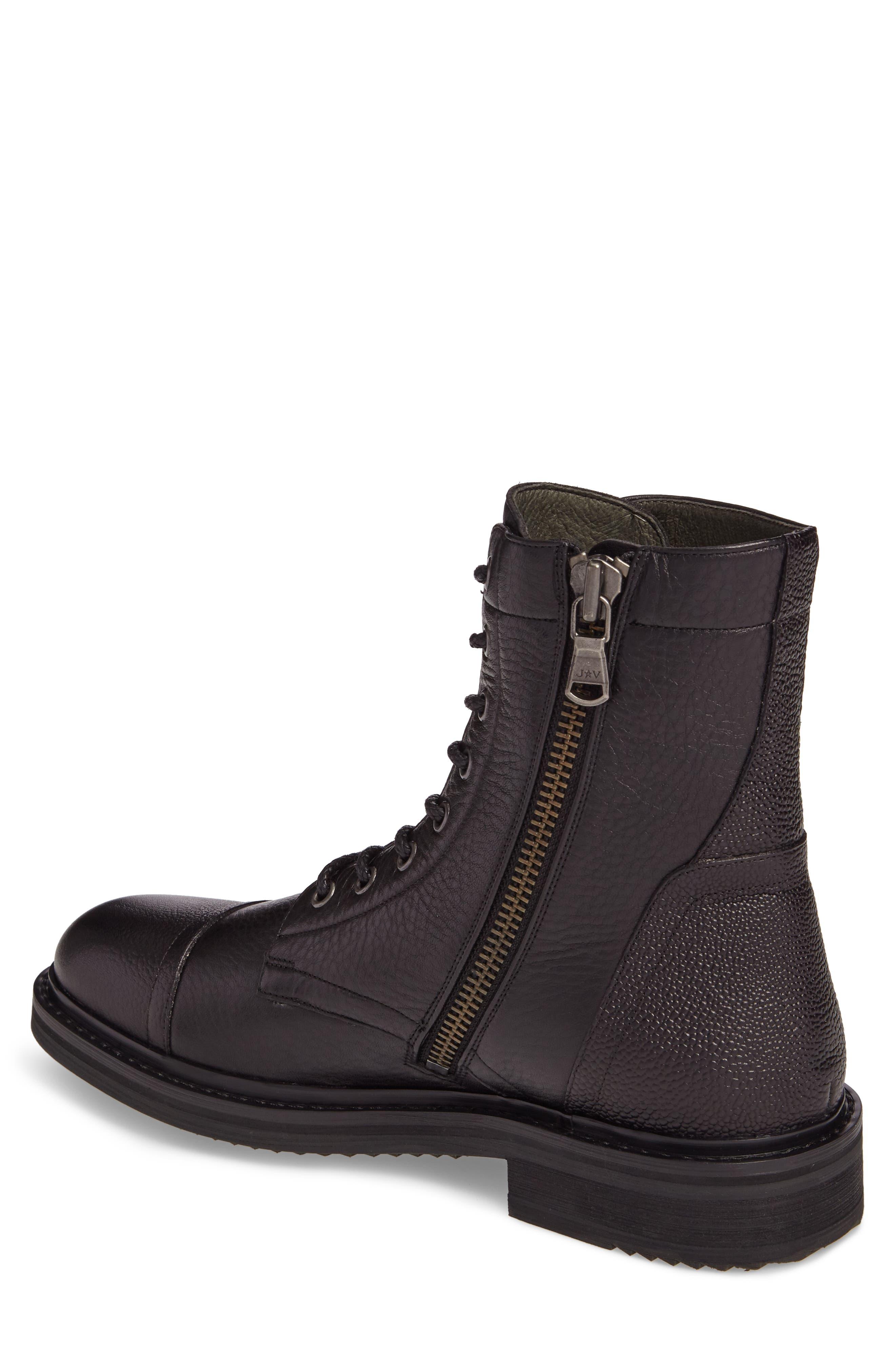 John Varvatos Star USA Cooper Cap Toe Boot,                             Alternate thumbnail 2, color,                             001