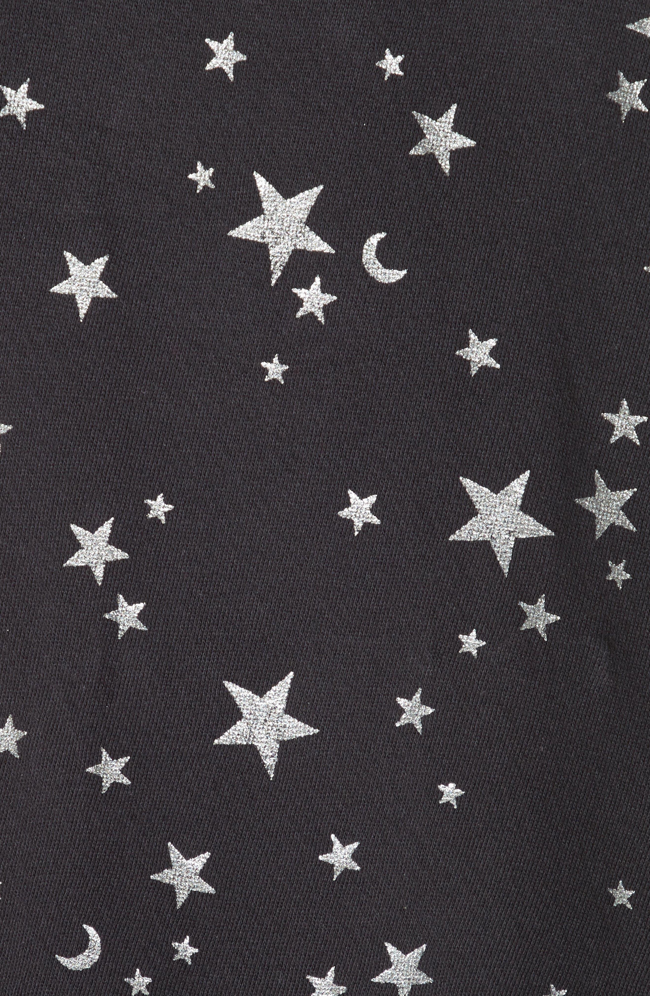 Edrie Foil Print Sweatshirt,                             Alternate thumbnail 5, color,                             002