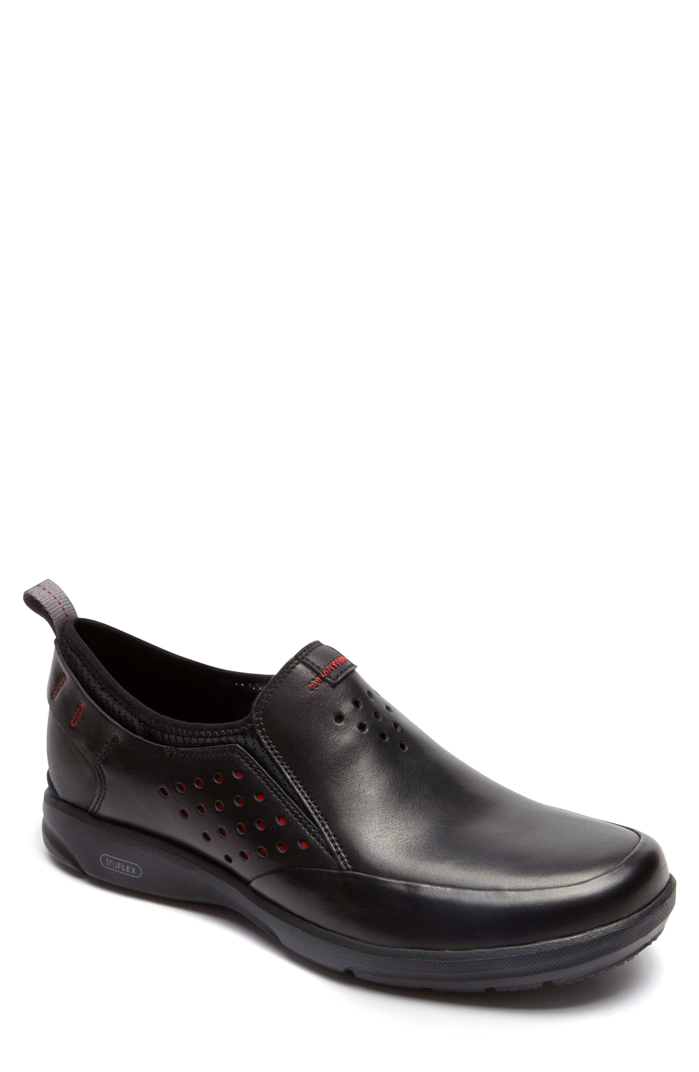 Truflex Slip-On,                         Main,                         color, BLACK LEATHER