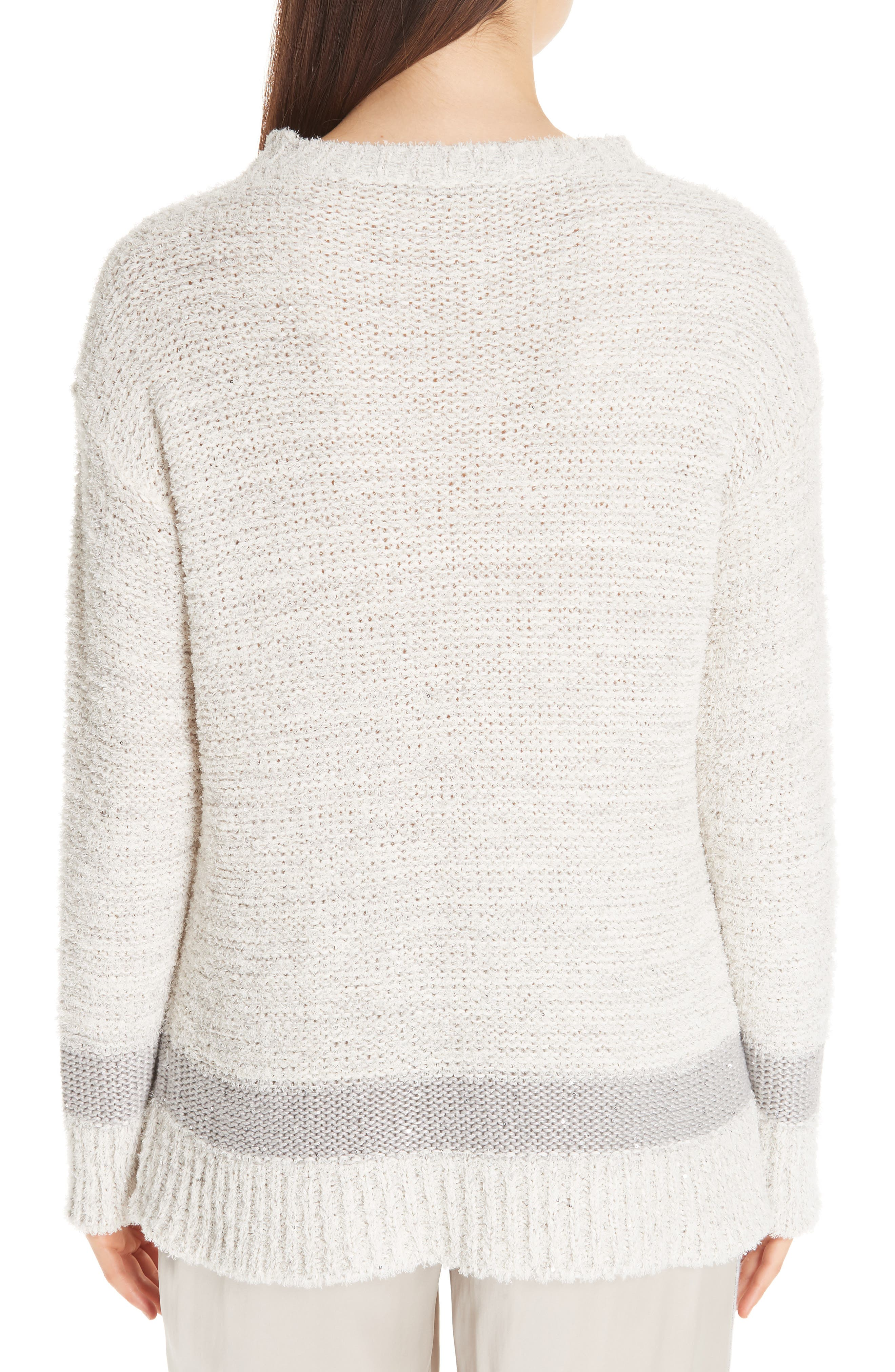 Sequin Knit Sweater,                         Main,                         color, BEIGE