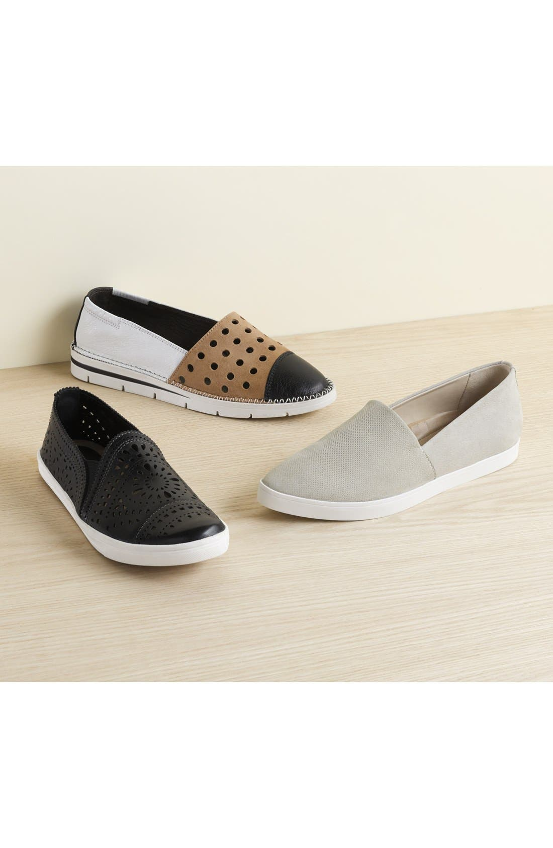 Chica Mixed Finish Slip-On,                             Alternate thumbnail 5, color,                             001