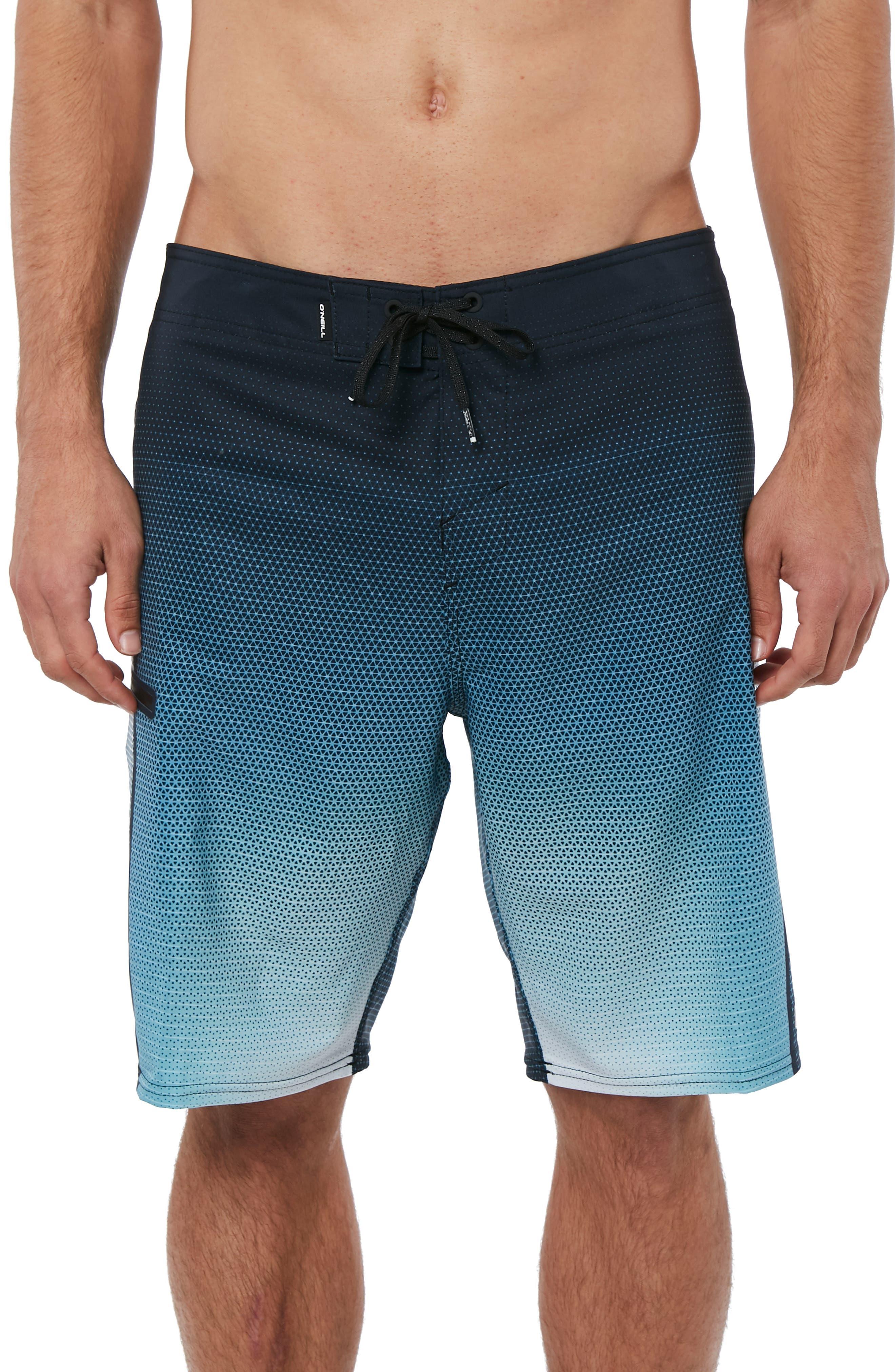 Hyperfreak Prizma Board Shorts,                         Main,                         color, TEAL