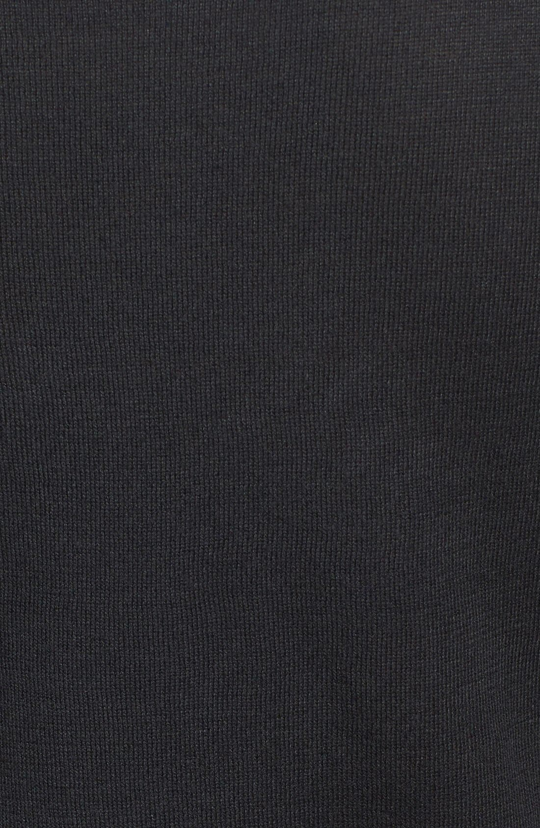 HALOGEN<SUP>®</SUP>,                             Three Quarter Sleeve Sweater,                             Alternate thumbnail 3, color,                             001