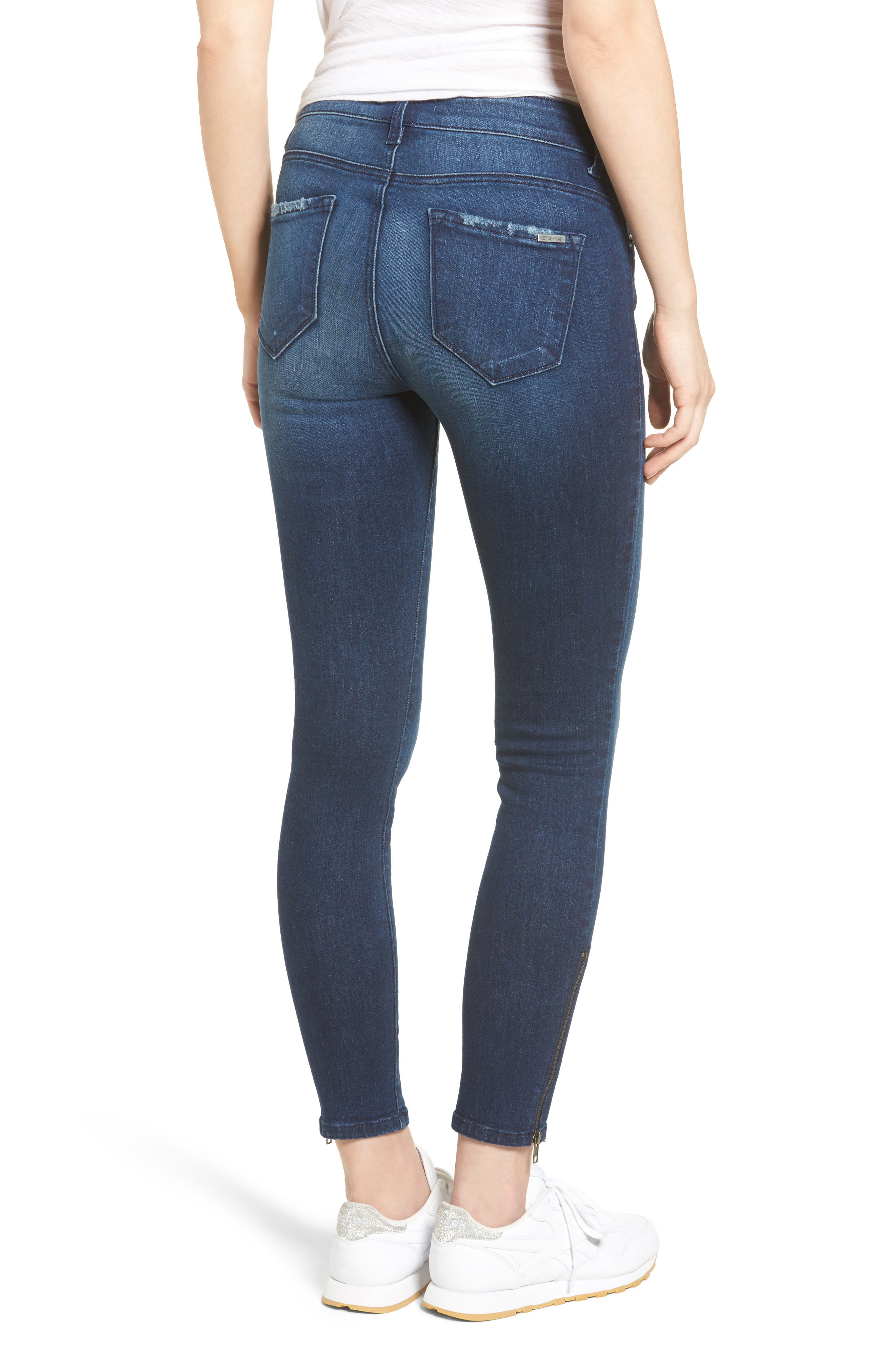 Emma Ankle Zip Skinny Jeans,                             Alternate thumbnail 2, color,                             400