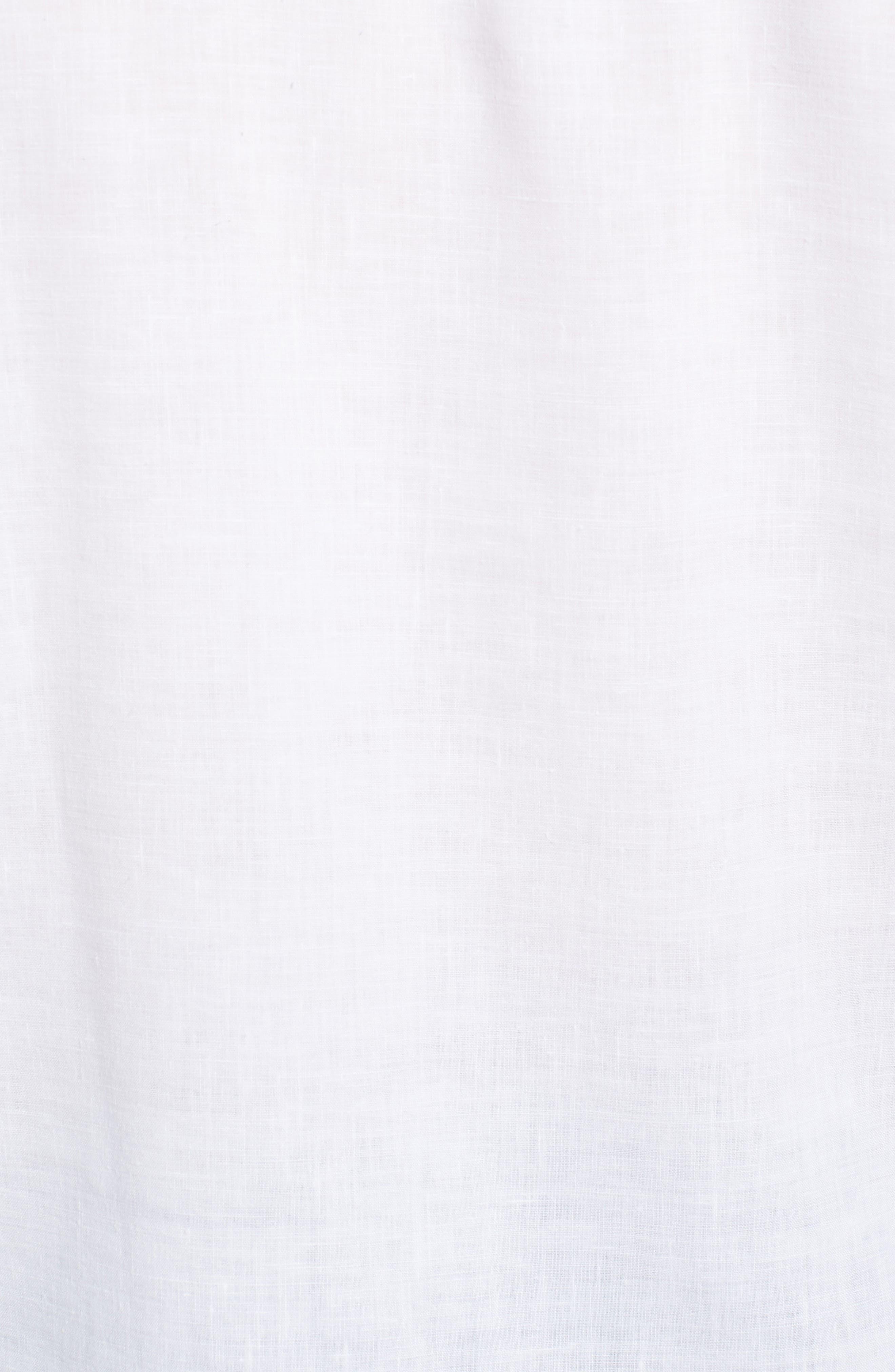 Lanai Tides Linen Blend Sport Shirt,                             Alternate thumbnail 5, color,                             100