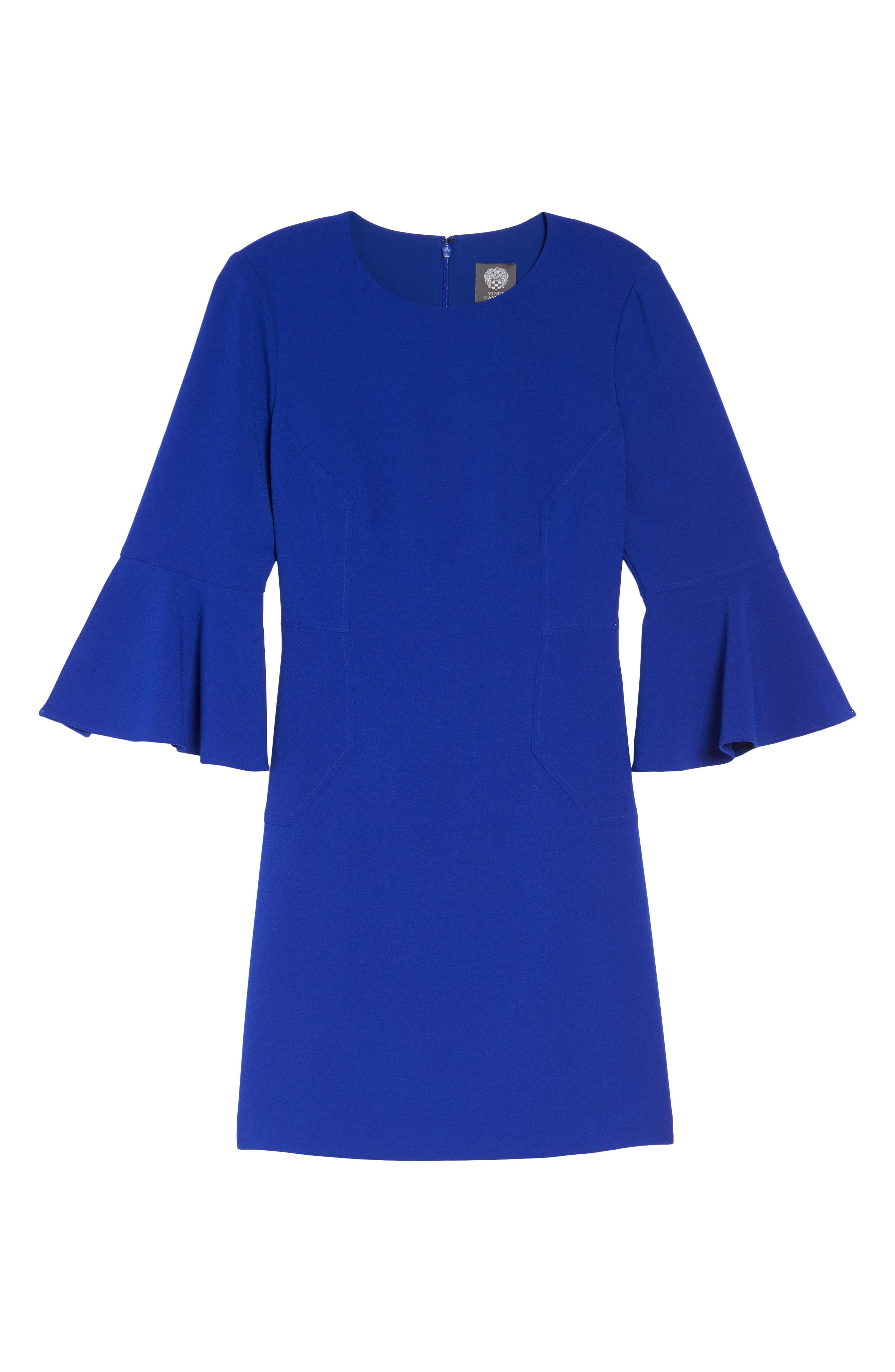 Bell Sleeve Dress,                             Alternate thumbnail 6, color,                             430