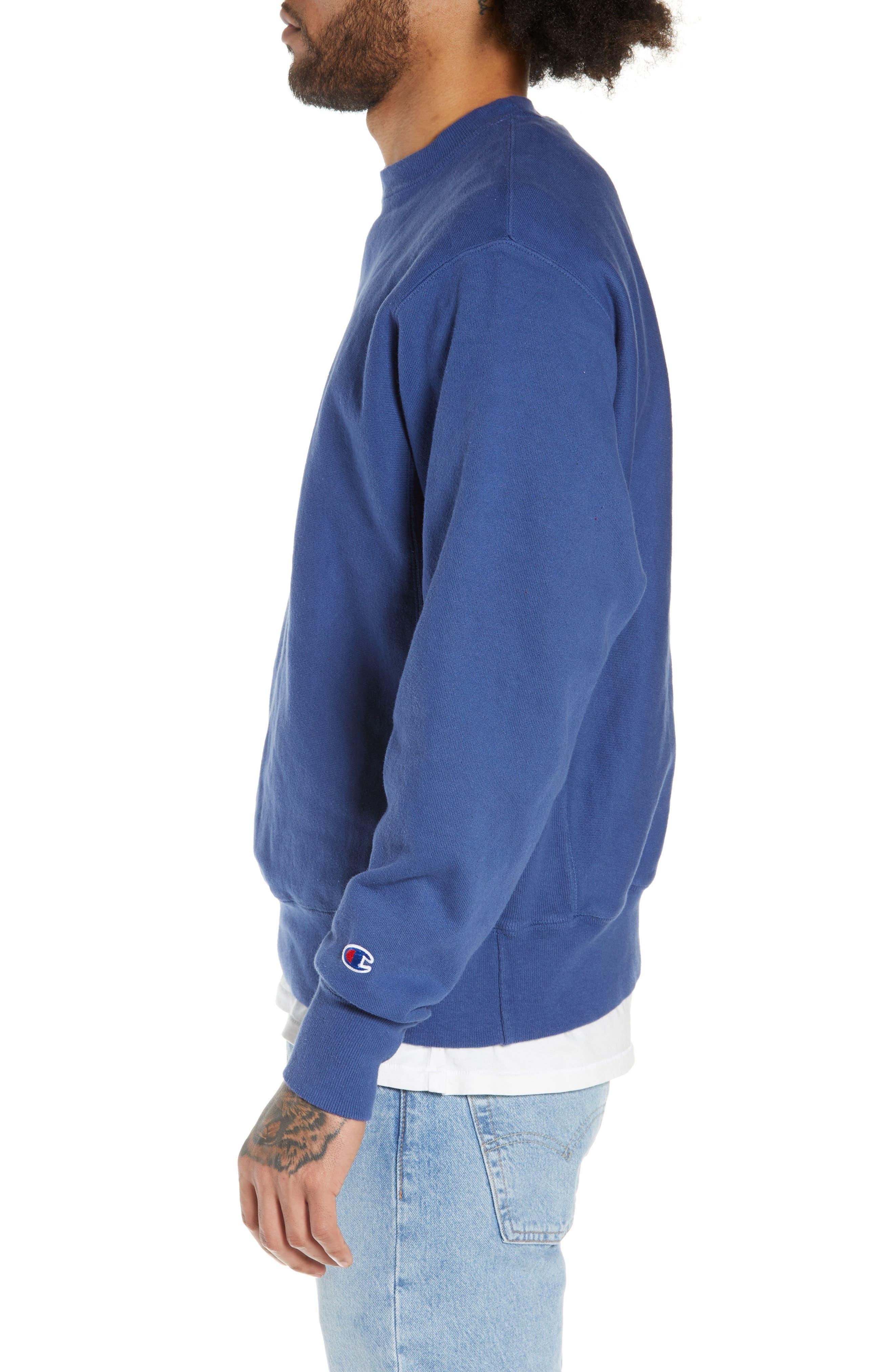 Reverse Weave<sup>®</sup> Snoopy Sweatshirt,                             Alternate thumbnail 3, color,                             DUTCH BLUE