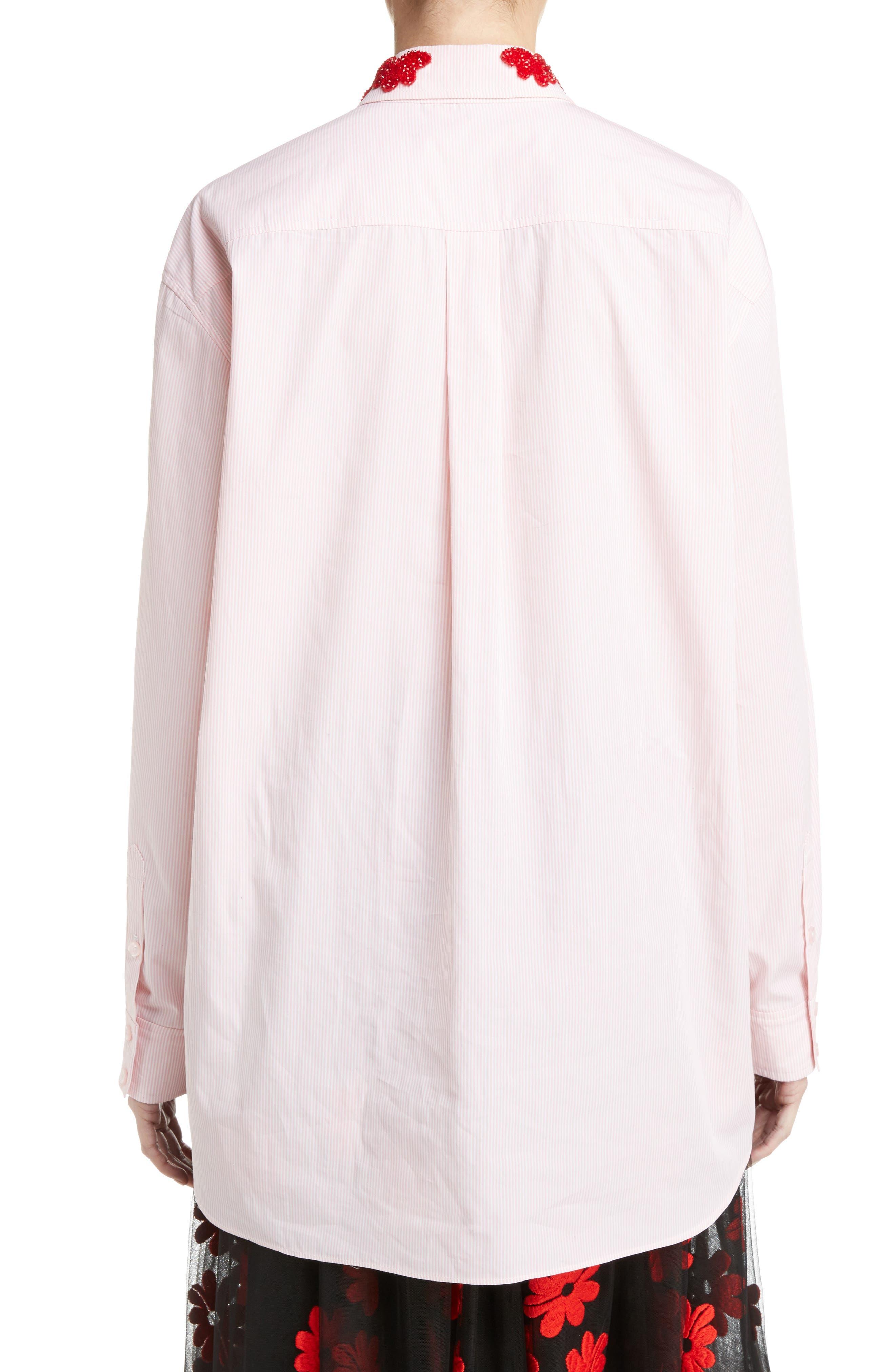 Beaded Pinstripe Shirt,                             Alternate thumbnail 2, color,