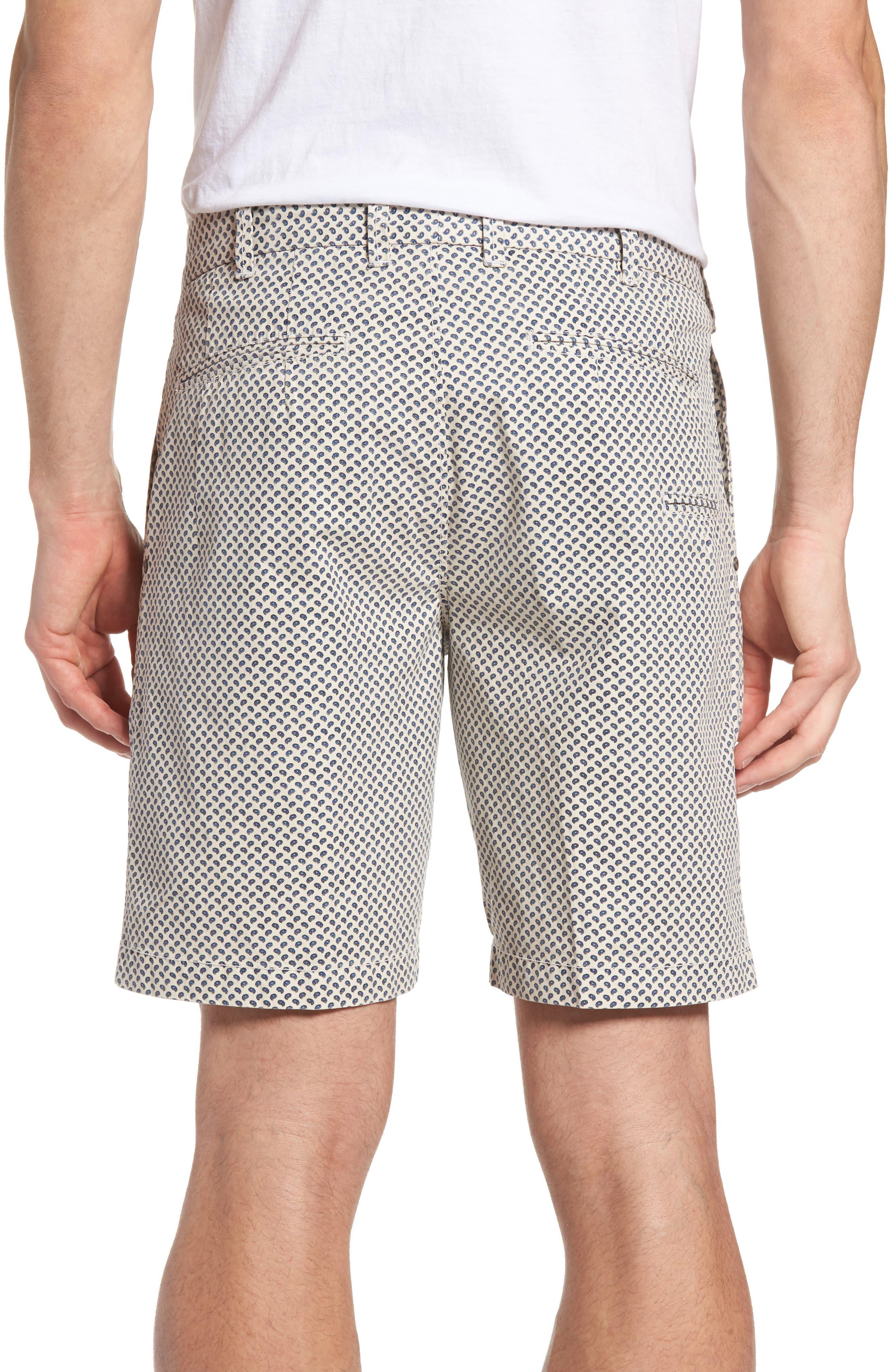 Pierce Print Flat Front Shorts,                             Alternate thumbnail 2, color,                             290