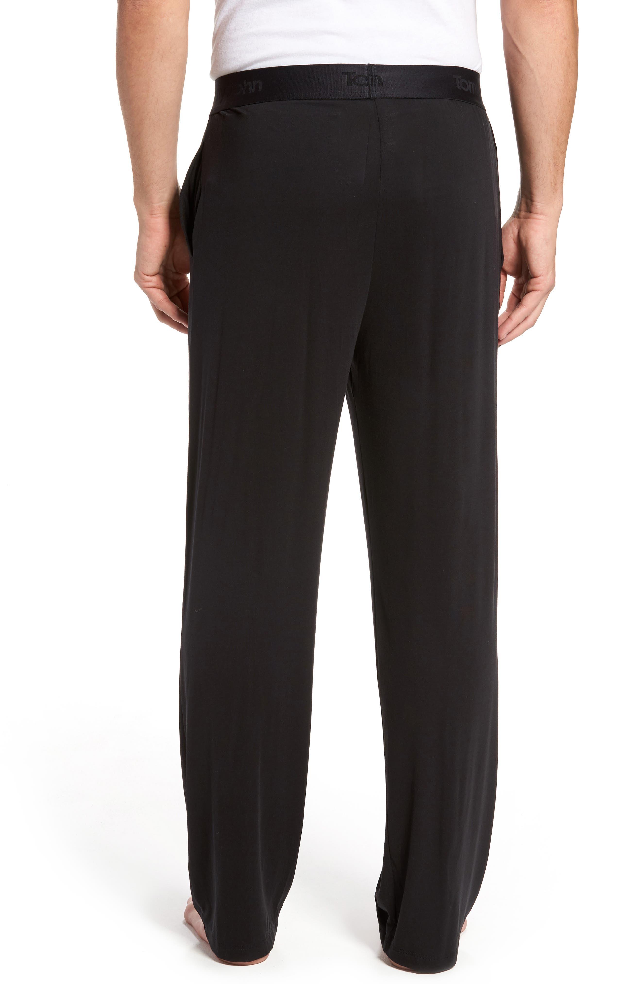 Second Skin Lounge Pants,                             Alternate thumbnail 2, color,                             BLACK