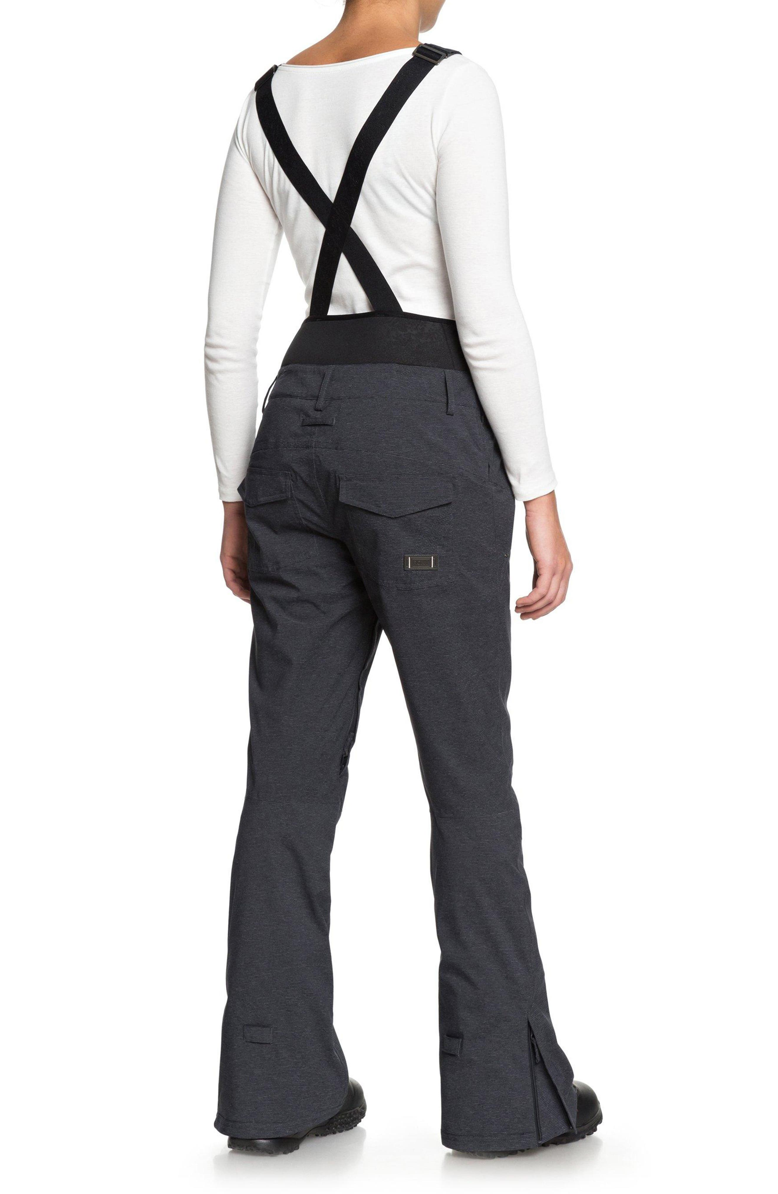 Torah Bright Vitality Bib Snow Pants,                             Alternate thumbnail 6, color,                             TRUE BLACK