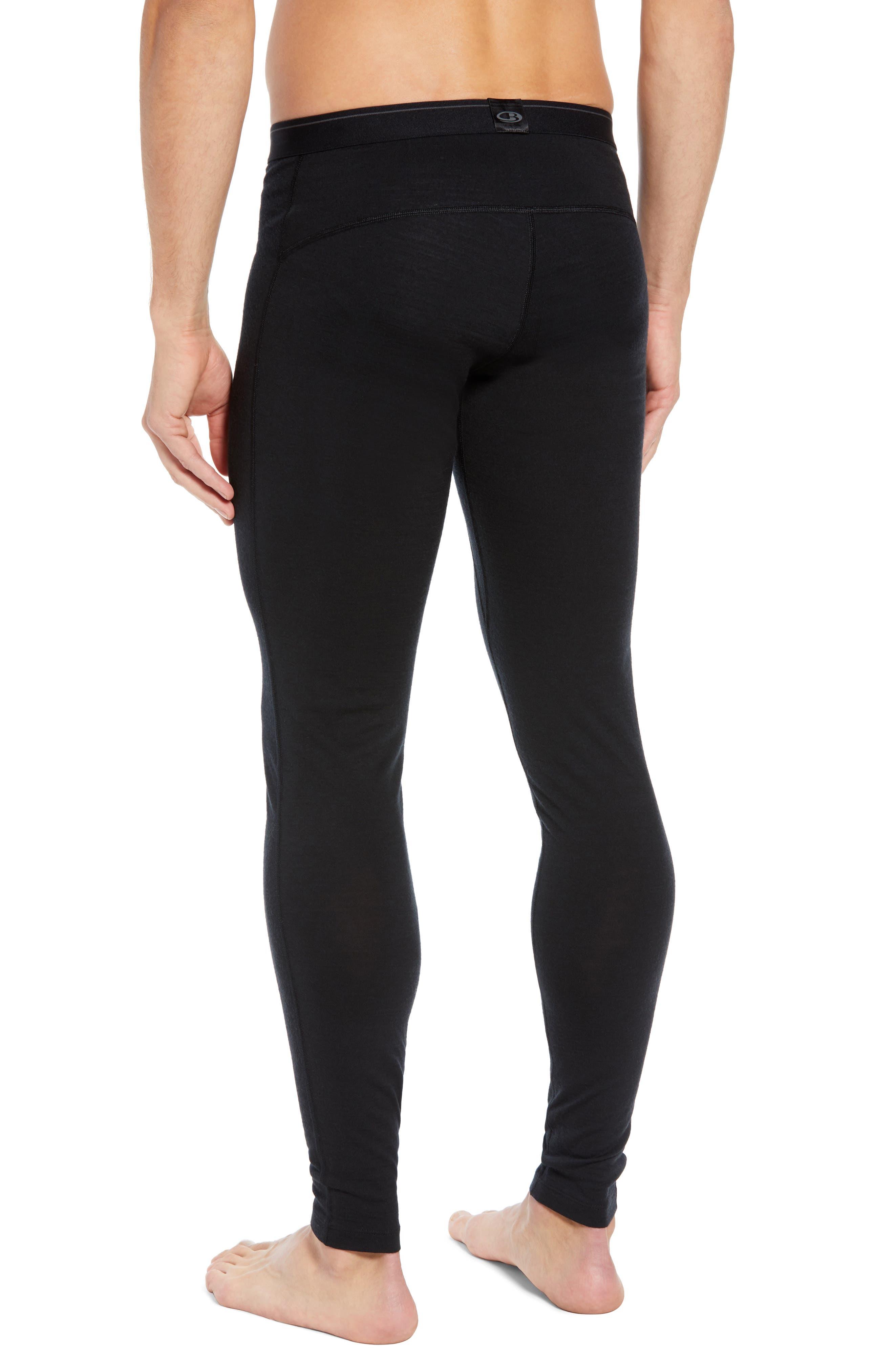 Oasis Slim Merino Wool Jersey Base Layer Leggings,                             Alternate thumbnail 2, color,                             BLACK