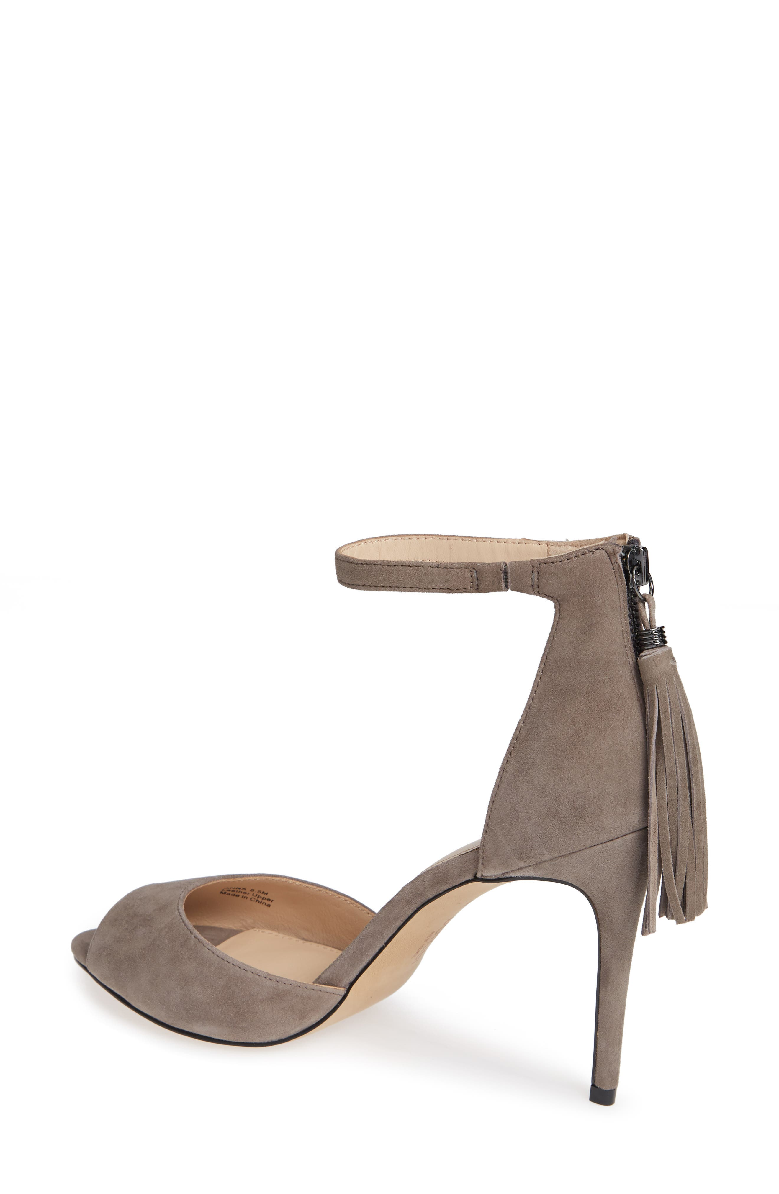 Anna Sandal,                             Alternate thumbnail 2, color,                             WINTER GREY SUEDE