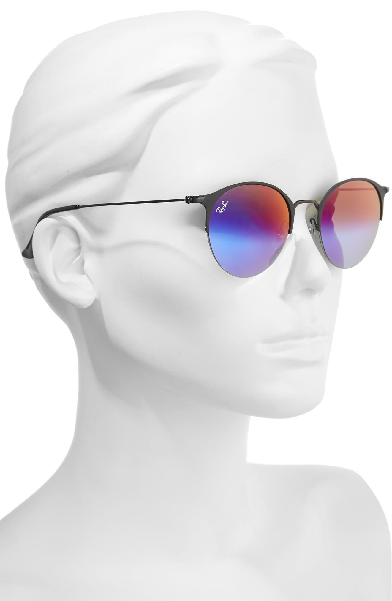 50mm Gradient Mirrored Sunglasses,                             Alternate thumbnail 2, color,                             001