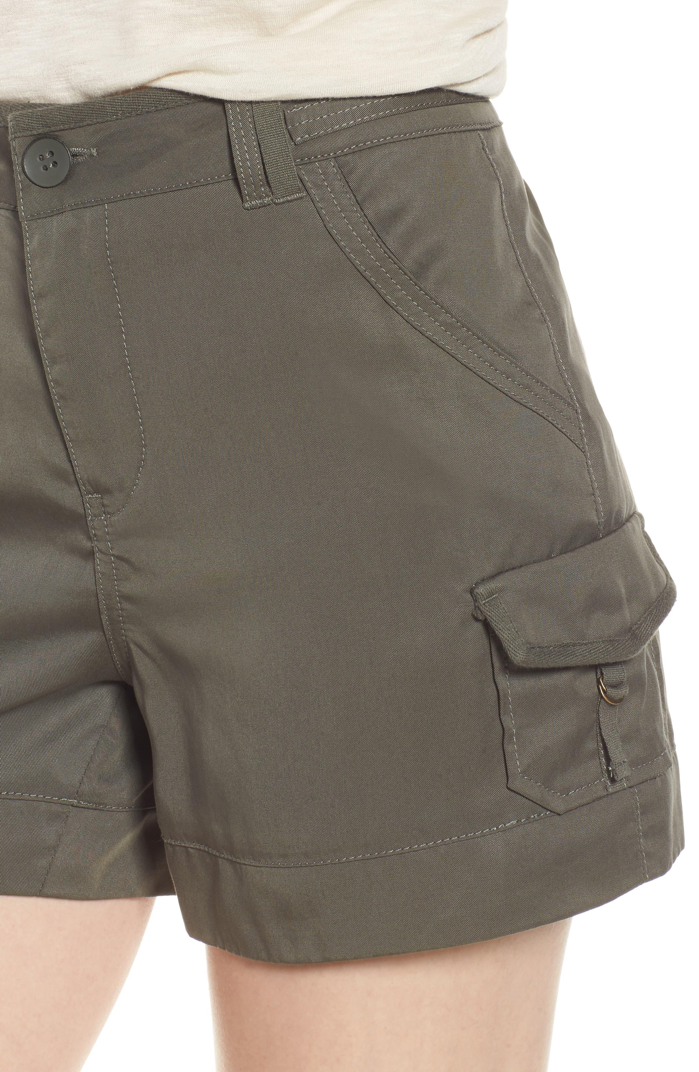 High Rise Tencel Shorts,                             Alternate thumbnail 16, color,