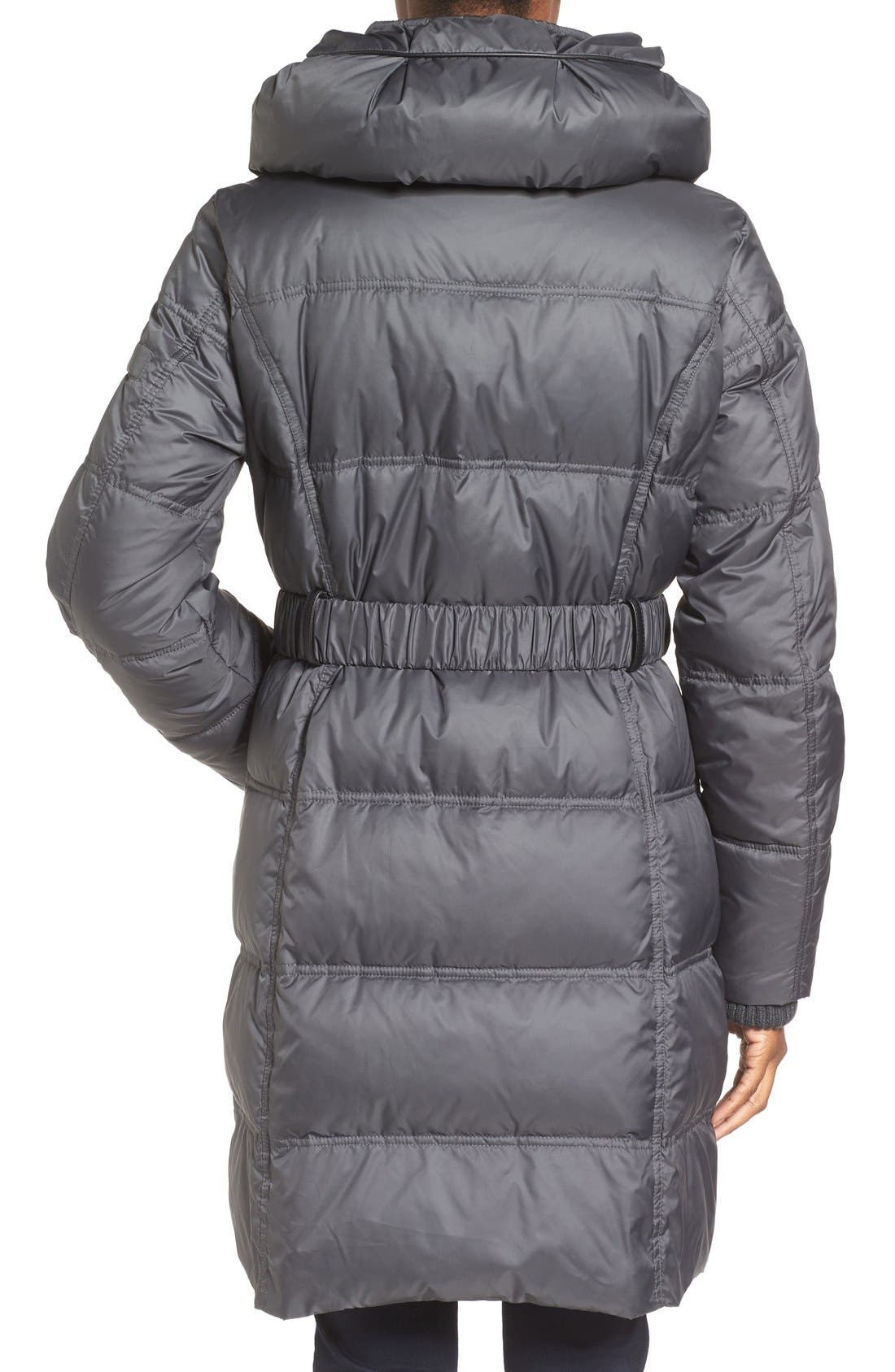 Quilted Down & Feather Fill Coat,                             Alternate thumbnail 6, color,